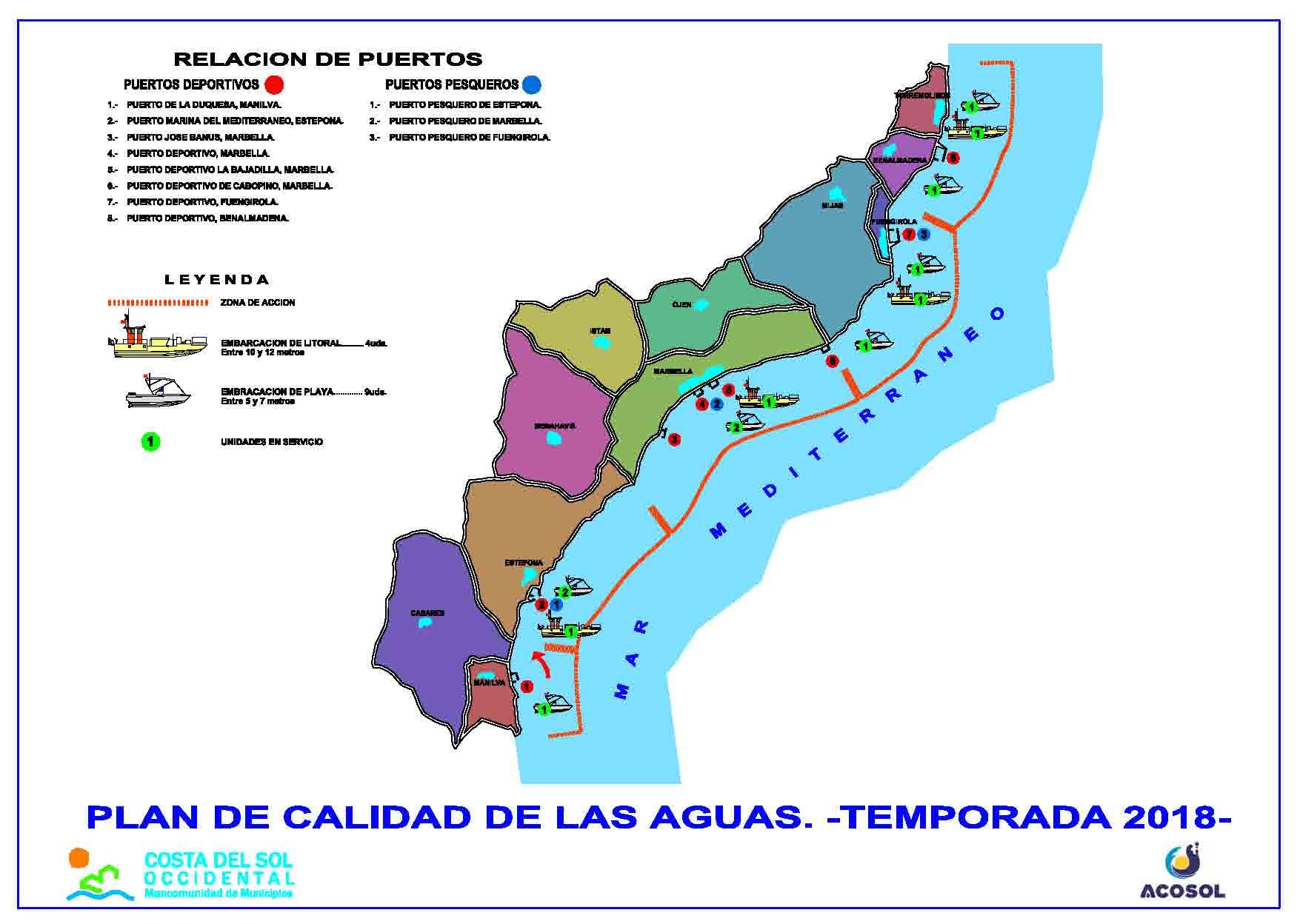 Acosol refuerza el servicio de embarcaciones para el control de calidad de las aguas en el litoral