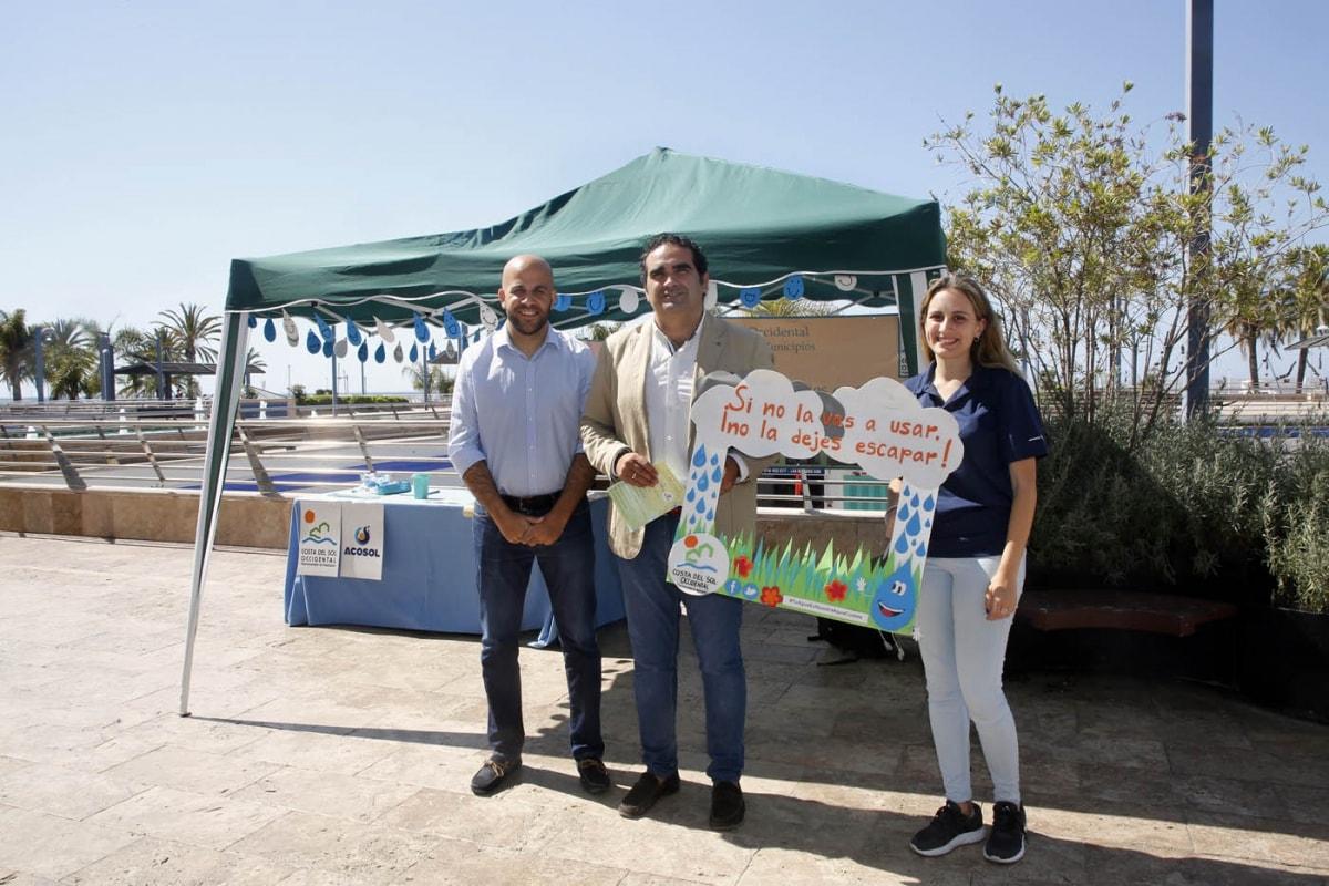 El Ayuntamiento de Marbella se suma a una campaña sobre la importancia del ahorro de agua