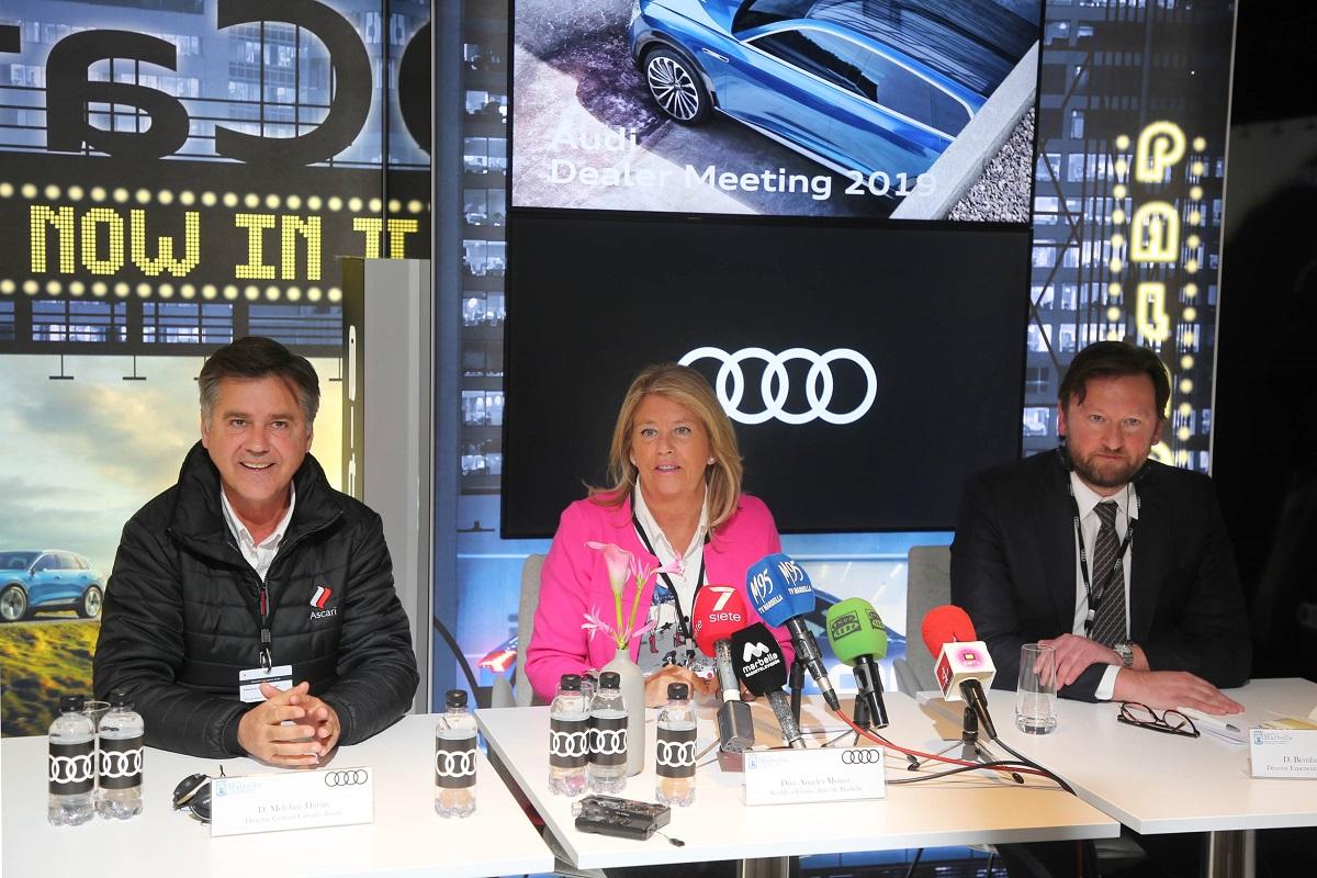 La alcaldesa destaca el importante retorno que tendrá para Marbella el Audi Dealer Meeting 2019, que generará más de 20.000 noches de hotel en la ciudad