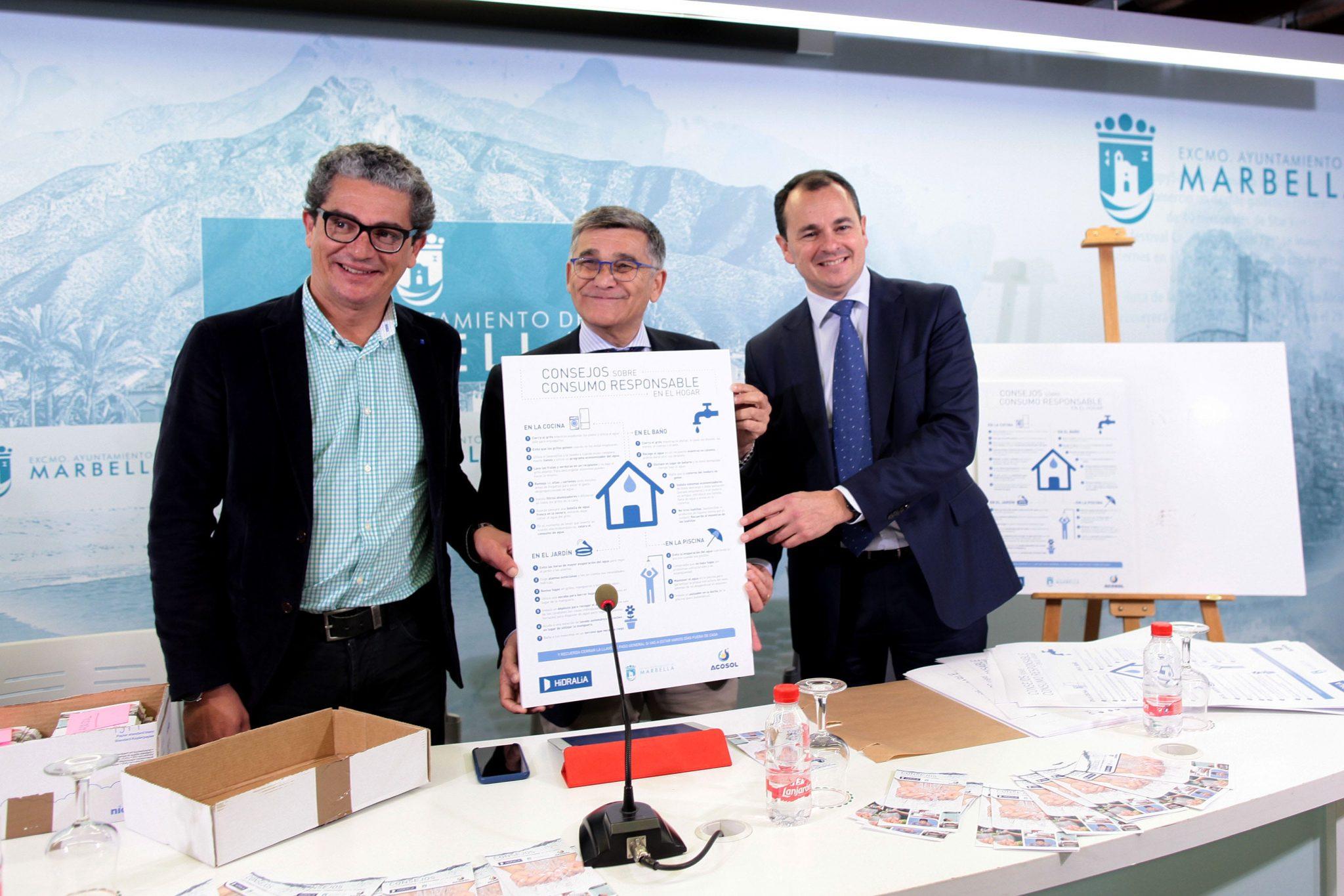 Ayuntamiento, Hidralia y Acosol ponen en marcha una campaña para concienciar sobre el consumo responsable de agua en el hogar