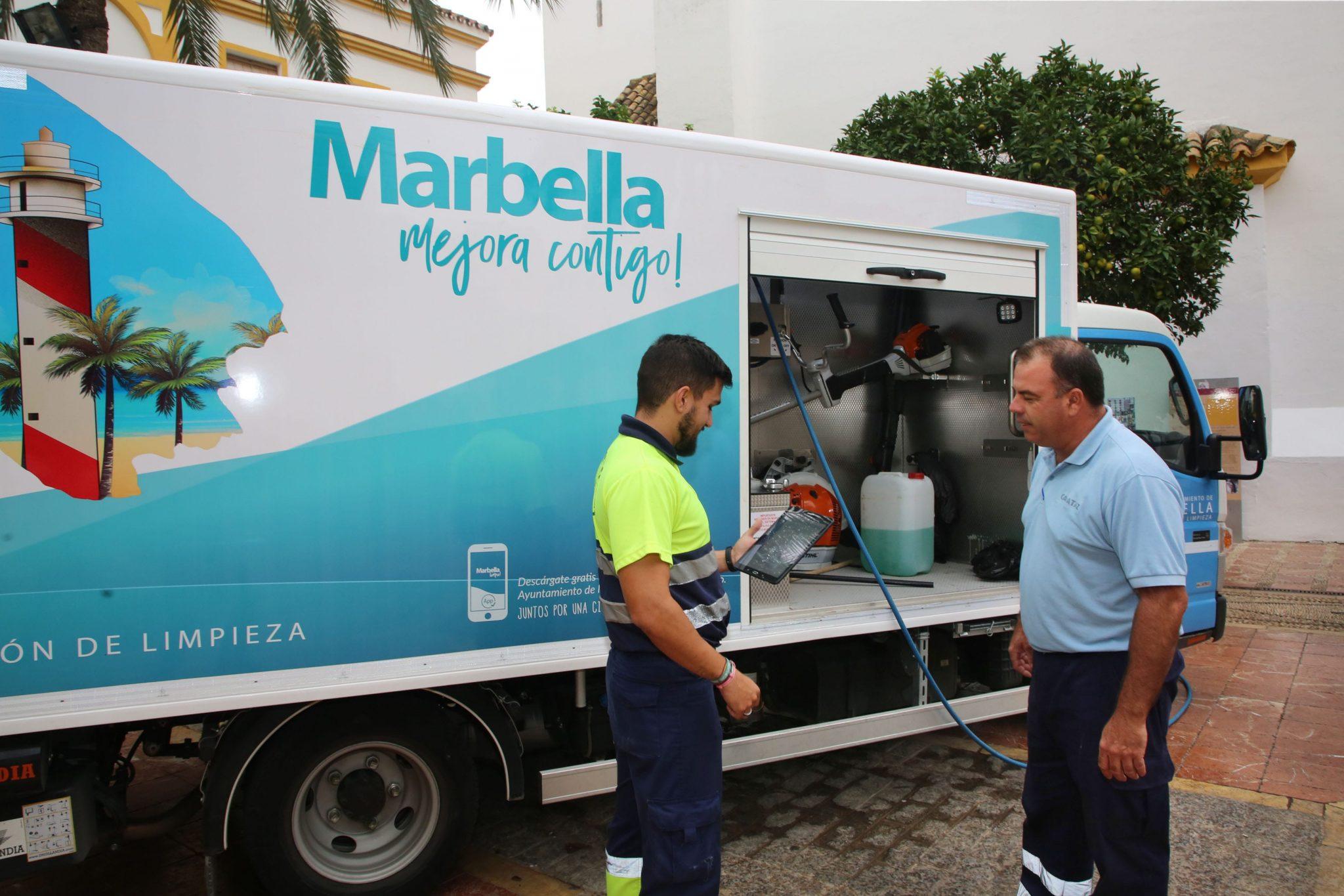aplicación móvil 'Marbella Limpia'