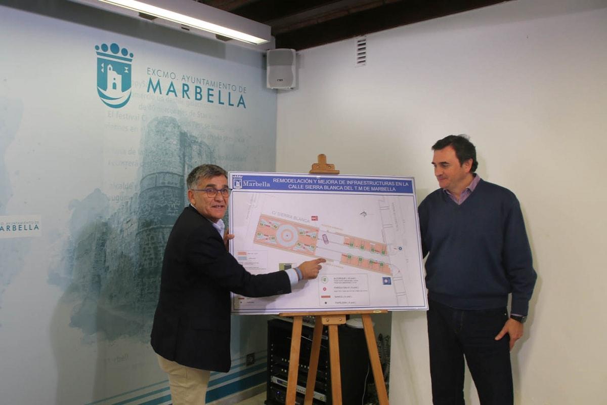 El Ayuntamiento peatonalizará la calle Sierra Blanca y modernizará las infraestructuras de esta vía