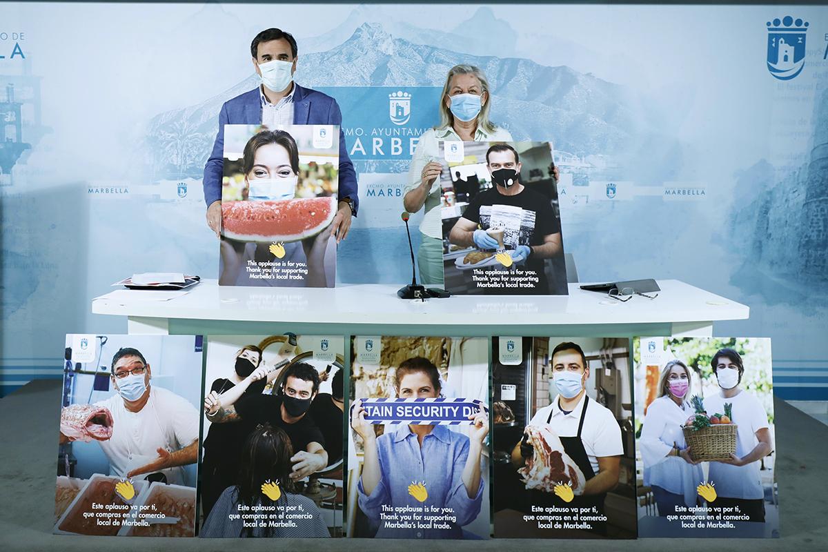 Campaña promocional para fomentar las compras en el comercio local
