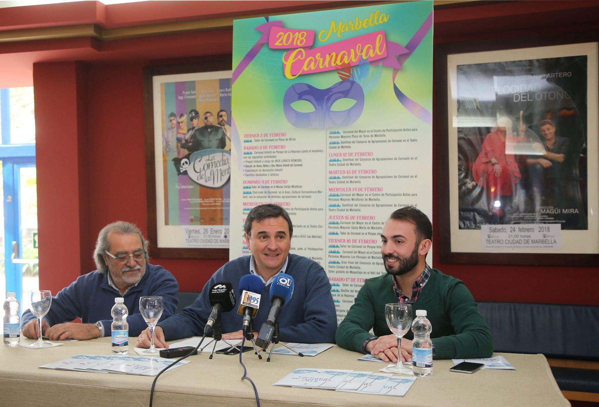 El Carnaval de Marbella contará con una treintena de actividades en todos los distritos y se desarrollará del 2 al 17 de febrero