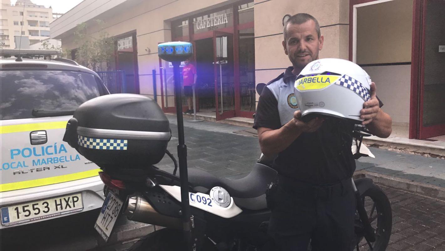 nuevos cascos policía local