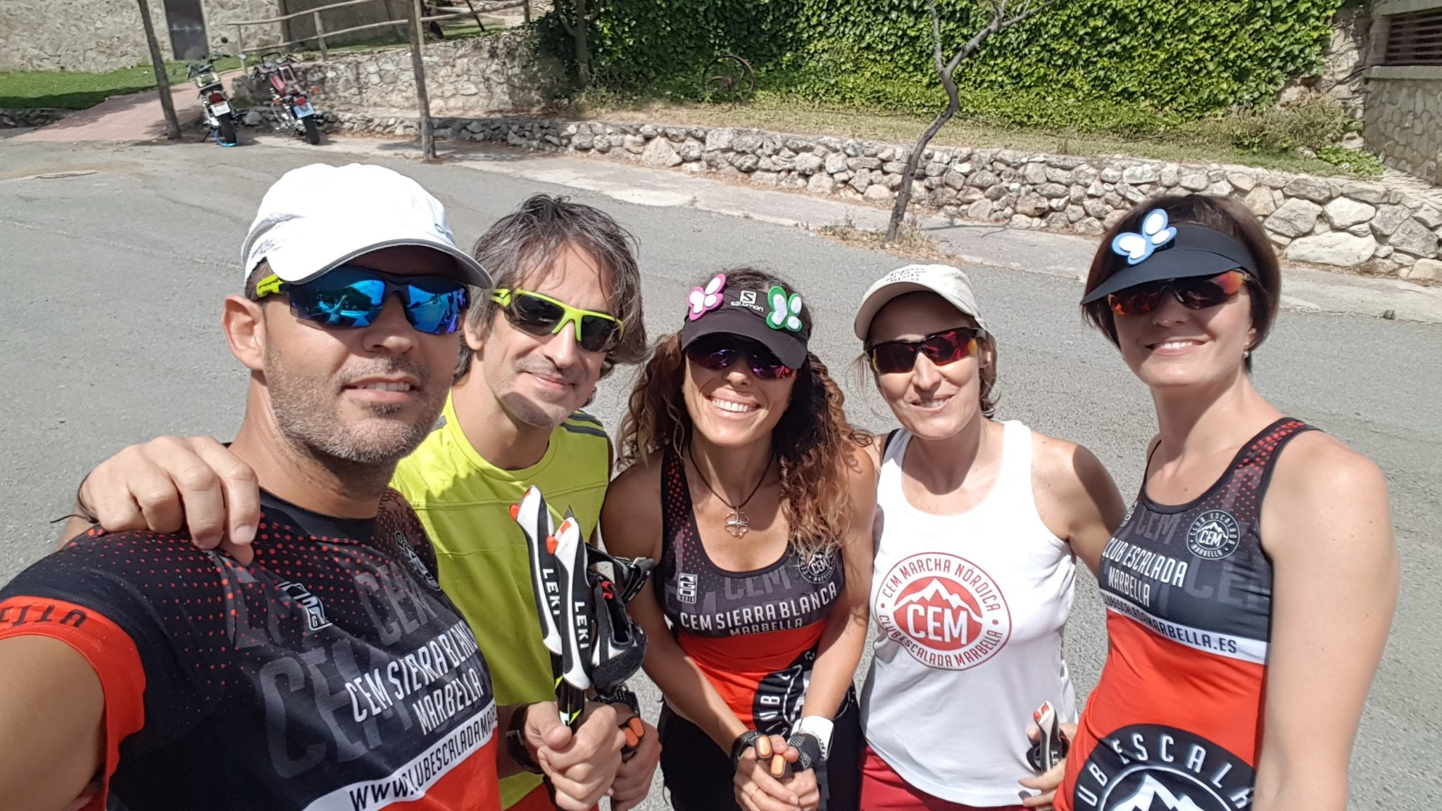 Cinco miembros del Club Escalada Marbella participa en la primera concentración de la Selección Andaluza de Marcha Nórdica