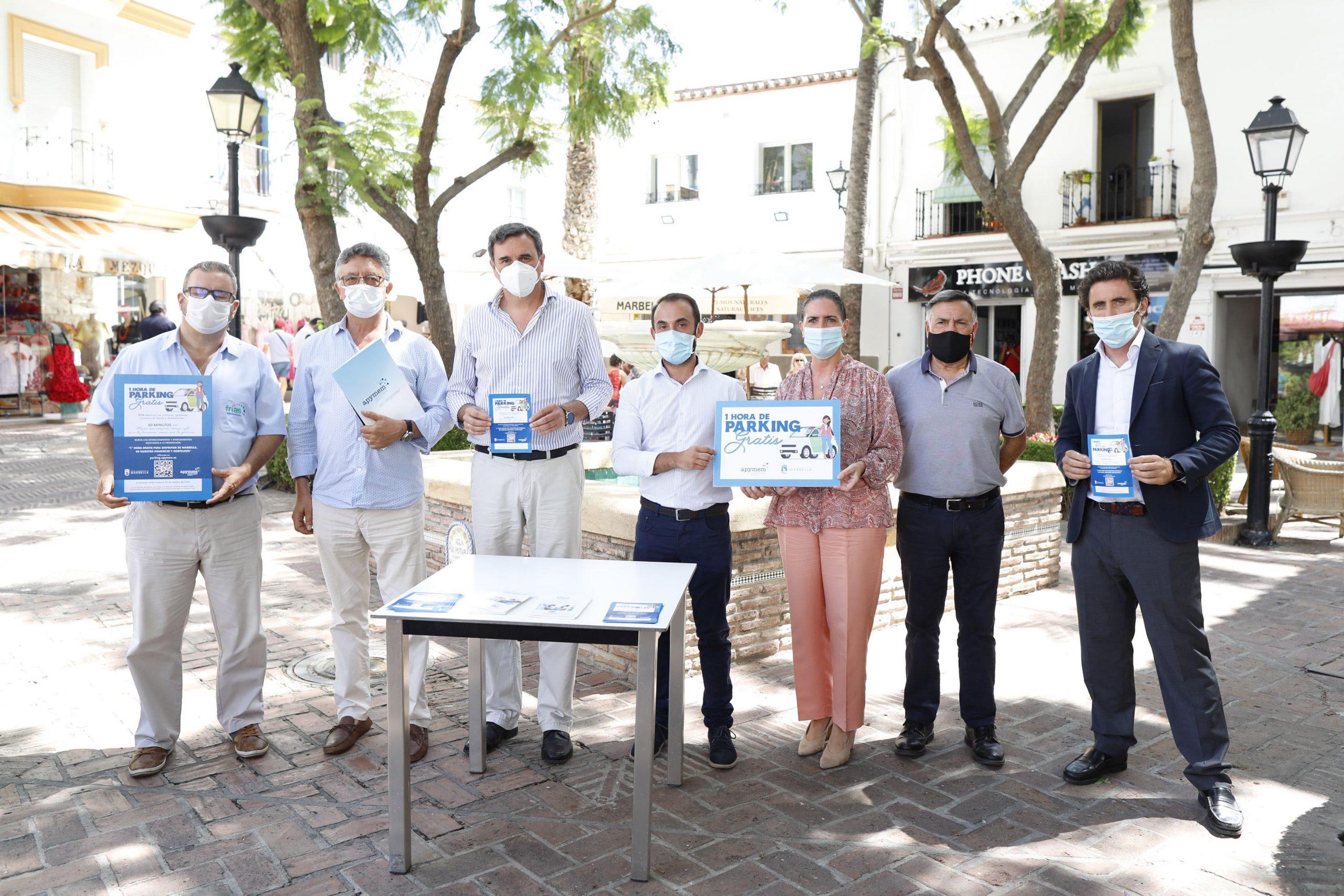 Comercios del centro de Marbella regalarán tiques de aparcamiento gratuito de 1 hora a sus clientes