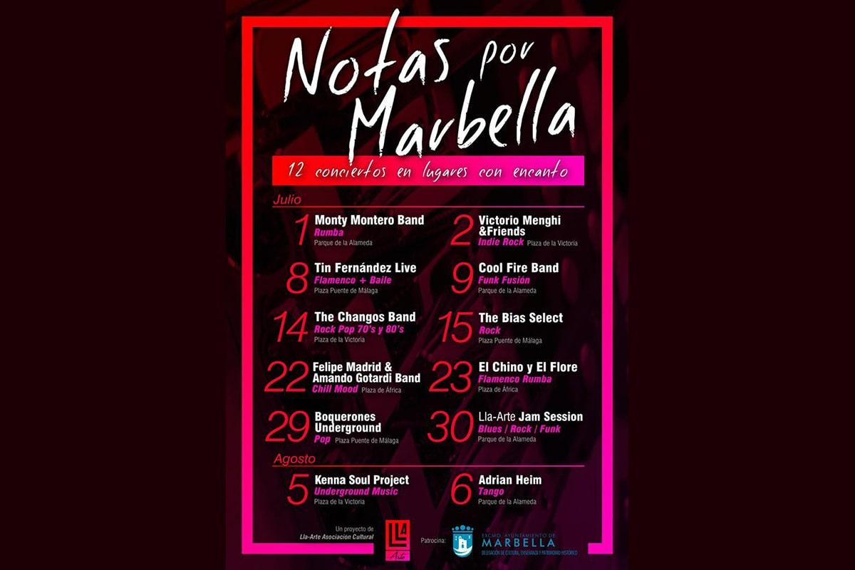 Comienza hoy la agenda cultural de verano de la ciudad con 'Notas por Marbella'