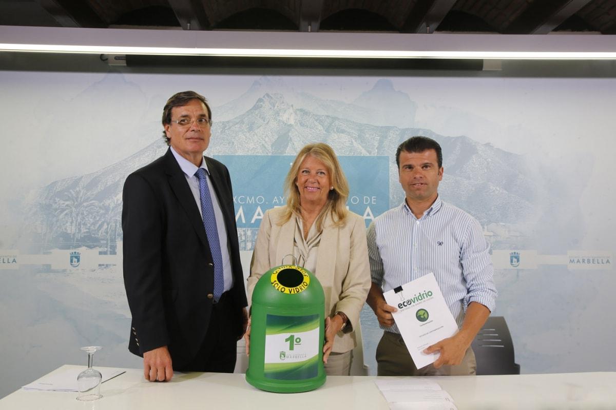 Marbella liderará el ranking de ciudades de más de 100.000 habitantes en número de contenedores de vidrio por habitante