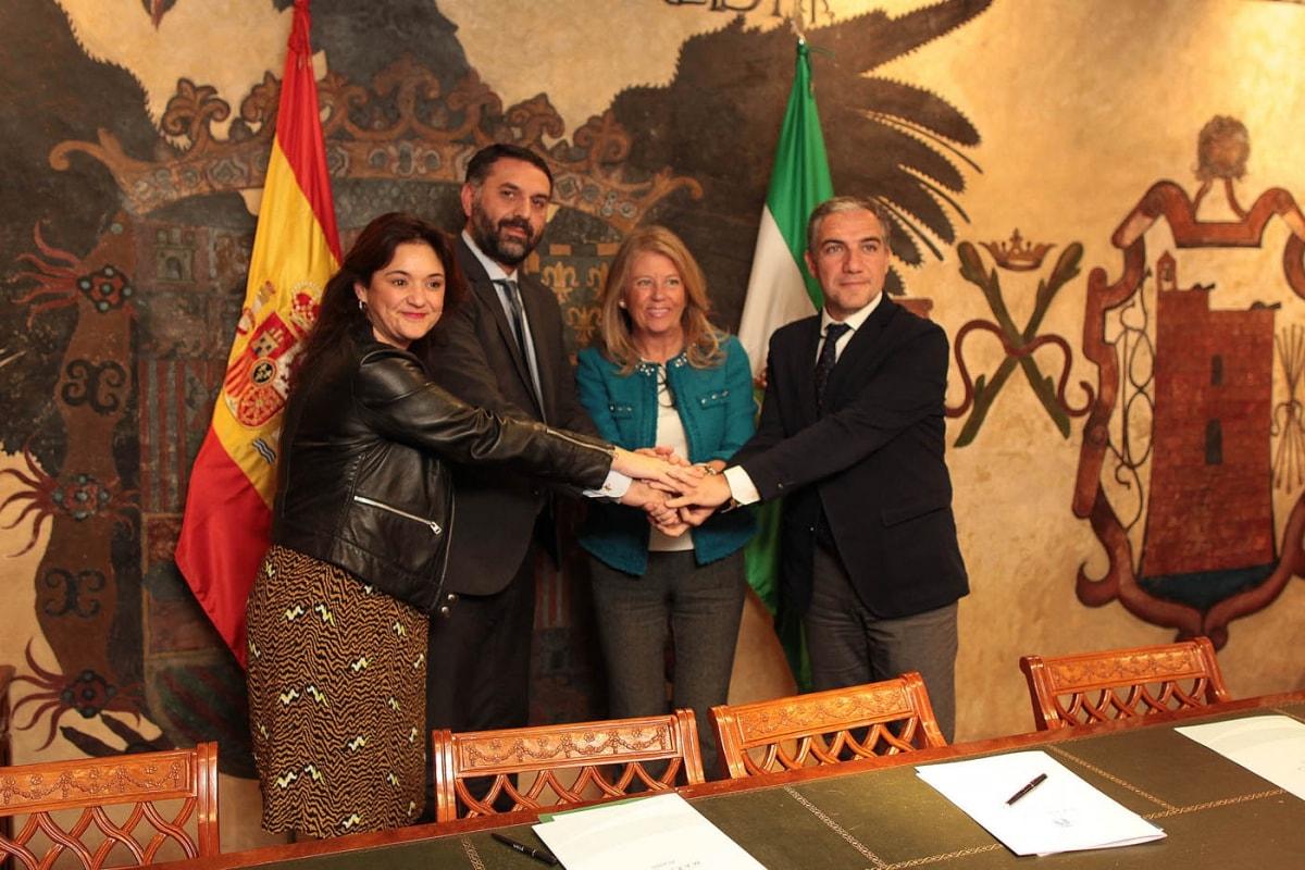 Colaboración entre administraciones para la Copa Davis en Marbella