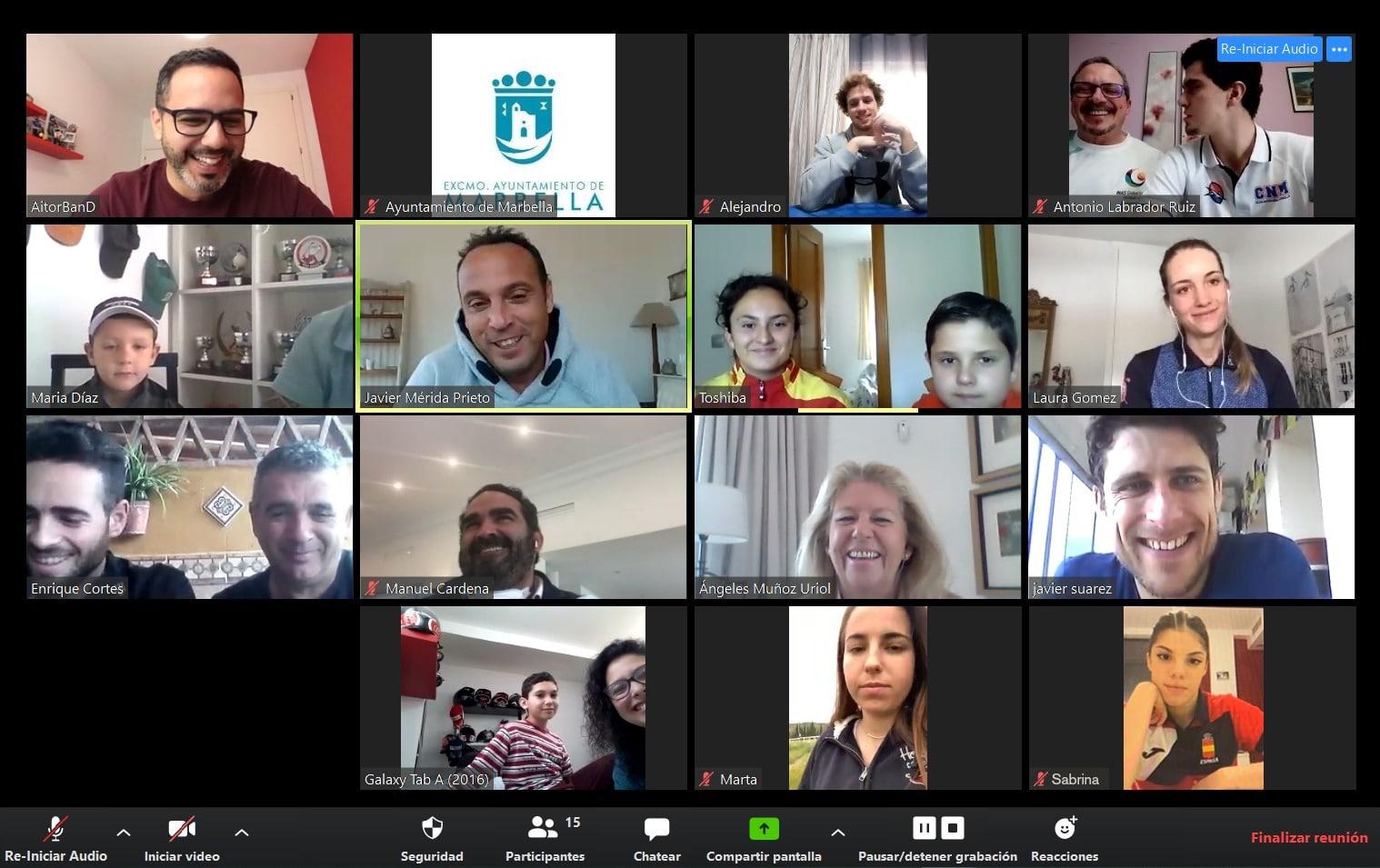 Deportistas del Programa Marca Marbella animan a los ciudadanos durante el confinamiento