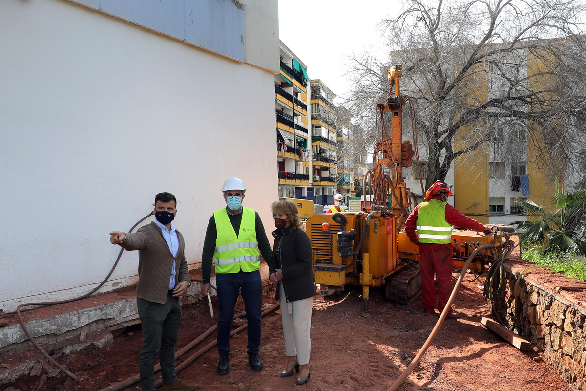 El Ayuntamiento ejecuta obras de estabilizacion del terreno de la calle boqueron