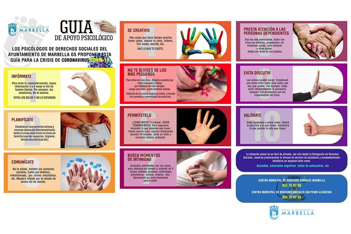 El Ayuntamiento elabora una Guía de Apoyo Psicológico con diez recomendaciones básicas