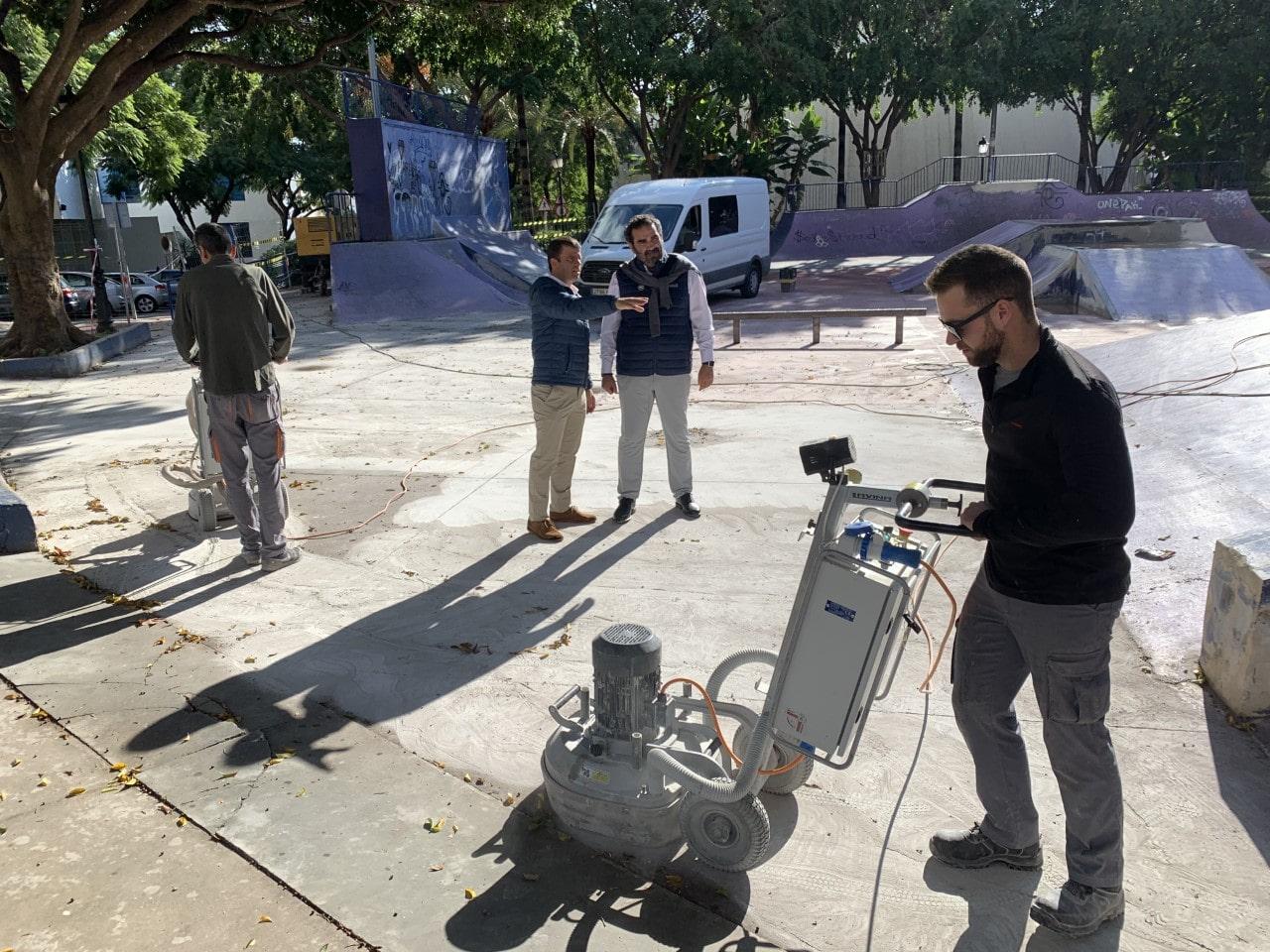 El Ayuntamiento lleva a cabo obras de mejora en las pistas de skate de Marbella