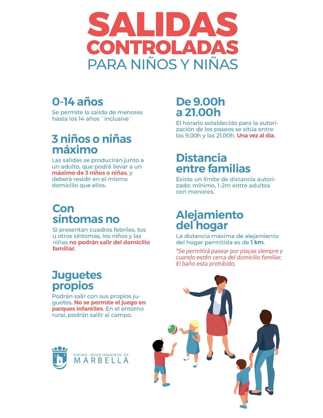 El Ayuntamiento ultima los preparativos para las salidas controladas de los menores a partir del domingo
