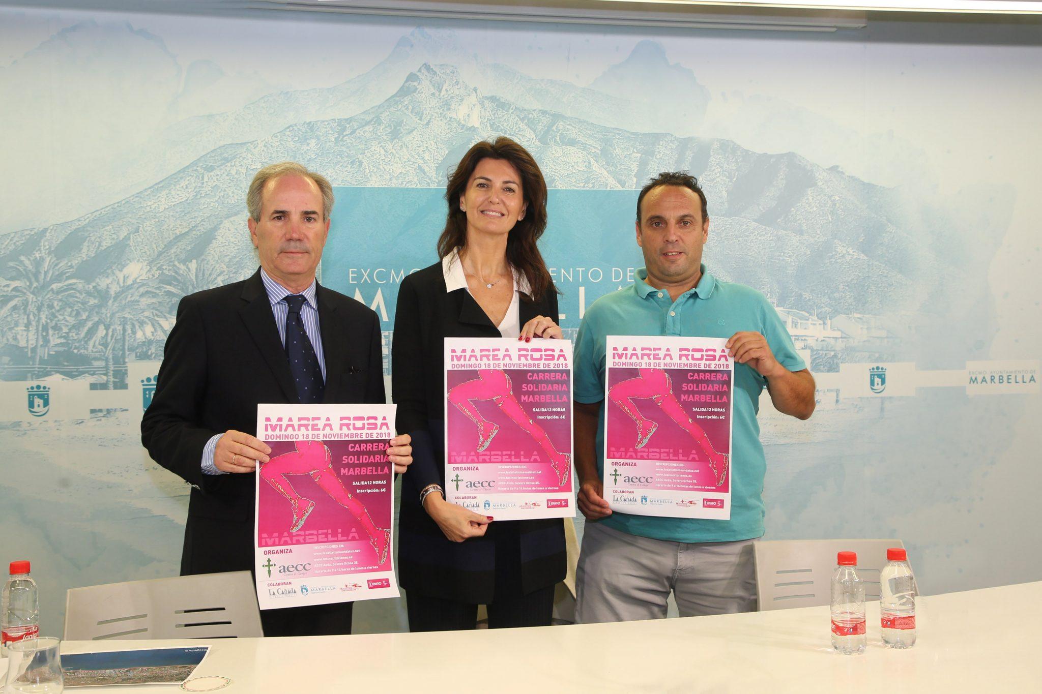 El centro de Marbella acogerá por primera vez la carrera solidaria a beneficio de la Asociación Española Contra el Cáncer