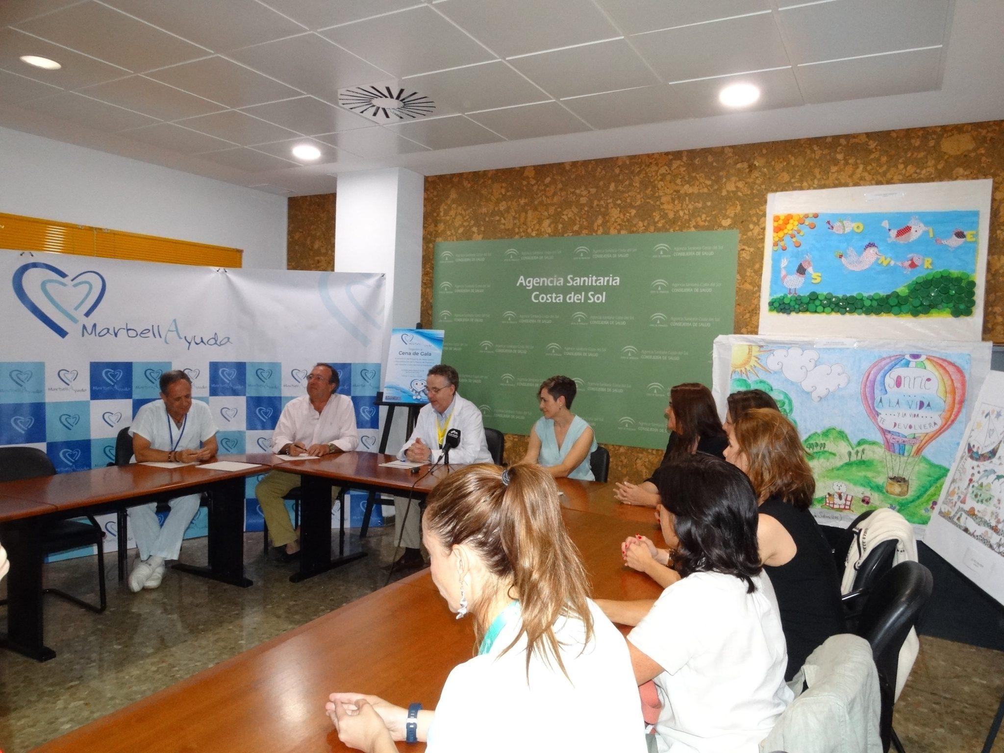 El Hospital Costa del Sol acoge la presentación de la gala solidaria de la Asociación MarbellAyuda