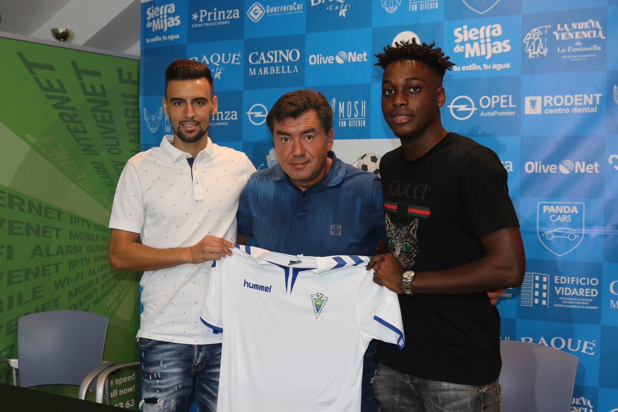 El Marbella FC ficha a Rafa Muñoz y Lamine N'Diaye, jóvenes y polivalentes