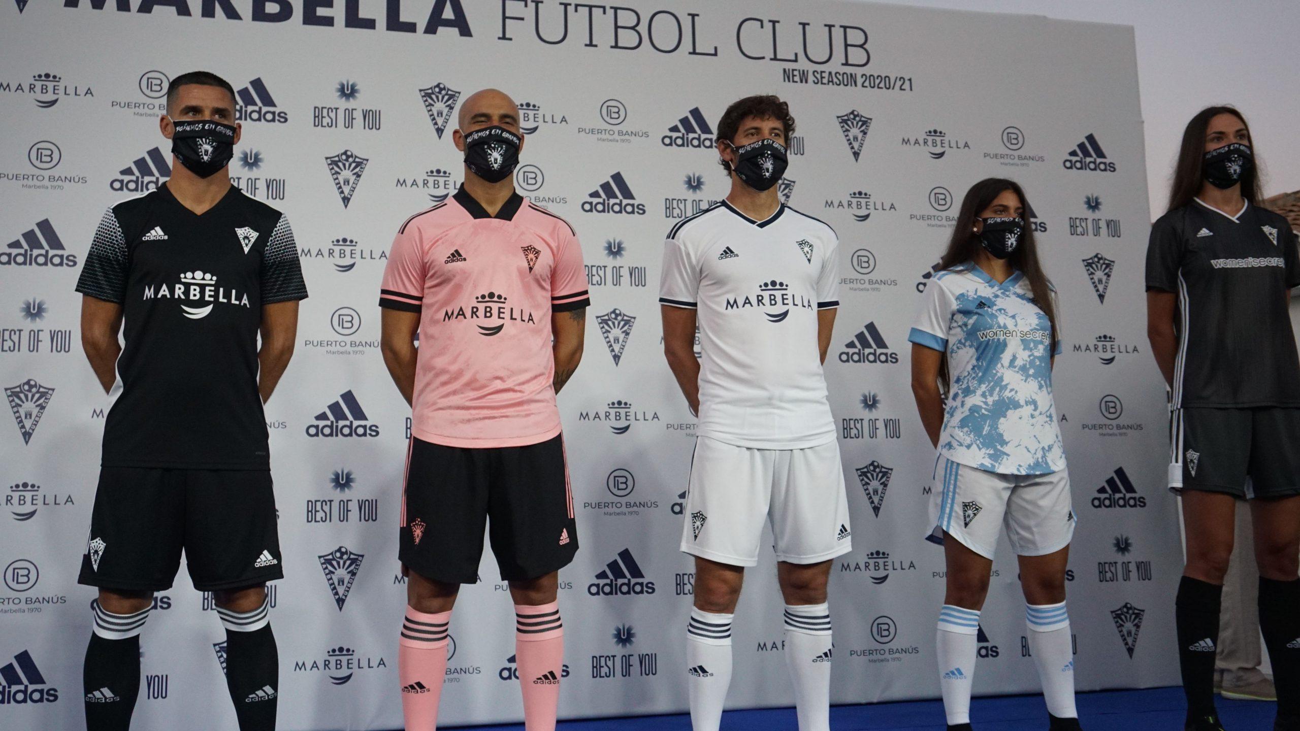 ElMarbella F.C.presentó las nuevas equipaciones oficiales Adidas de la temporada 2020-2021