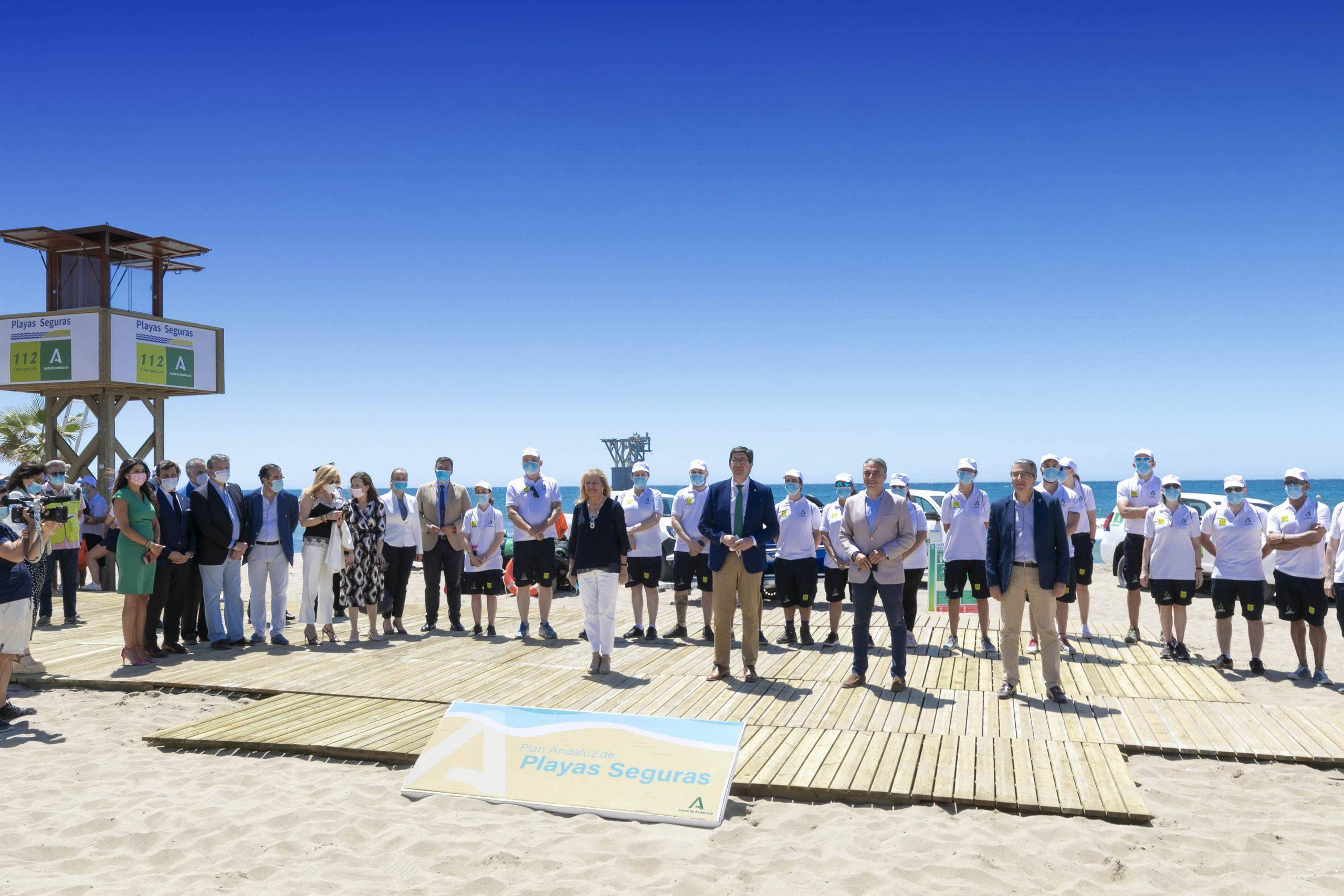 El Plan Playas Seguras de la Junta cuenta en Marbella con 150 vigilantes