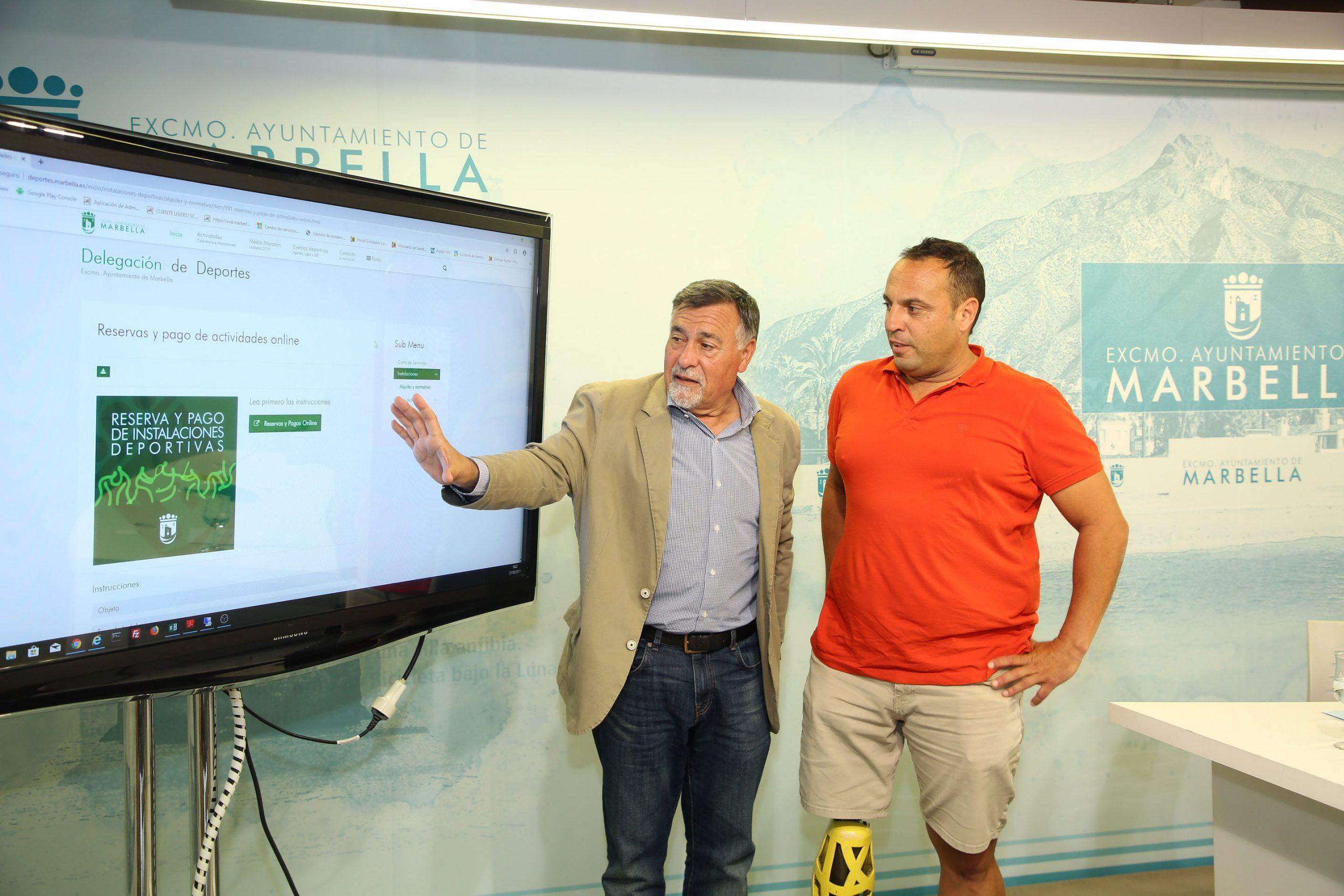 En marcha un sistema para la reserva de instalaciones deportivas y el pago de las Escuelas Deportivas Municipales a través de internet