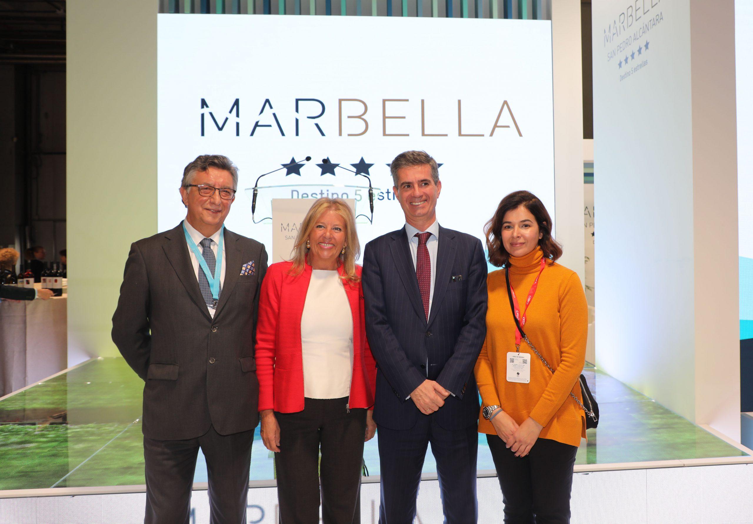 Enrique Guerrero (Apymem), Ángeles Muñoz, Juan José González (CIT) y Ana García (Apymespa) Fitur 2020