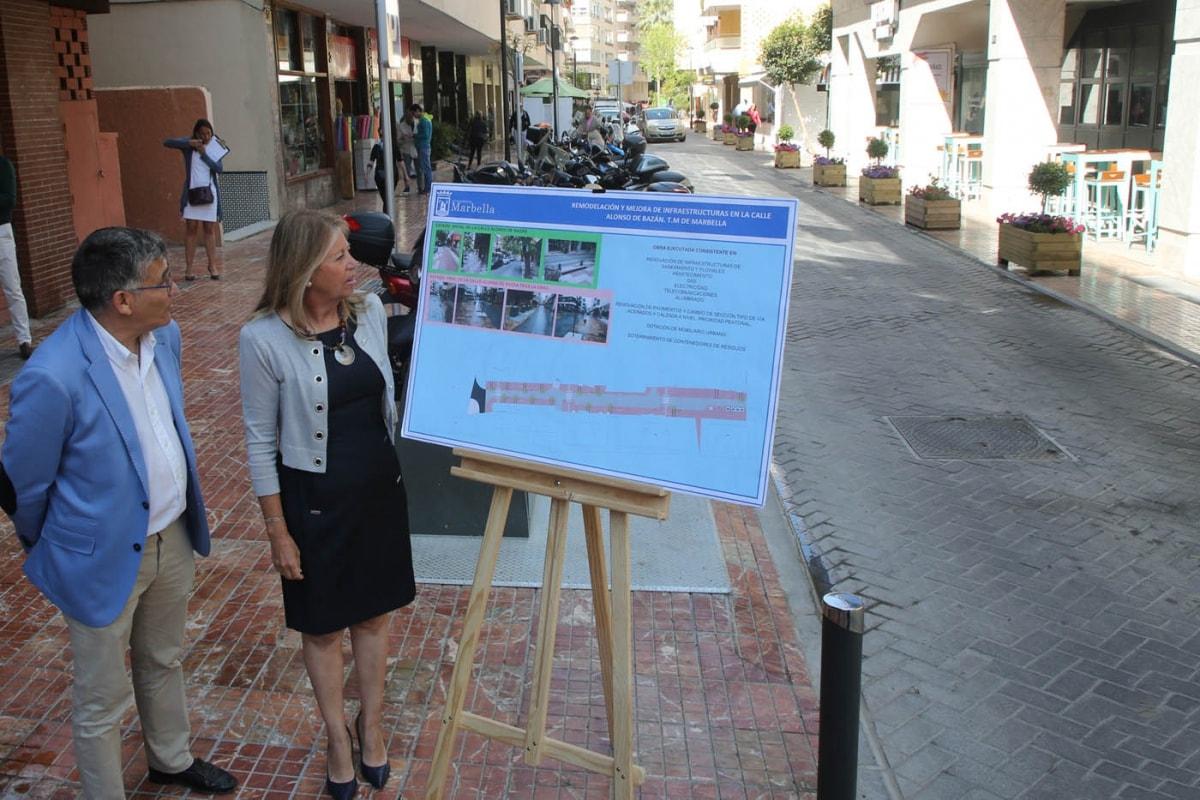 Finaliza la remodelación de la calle Alonso de Bazán dentro del Plan Marbella Centro