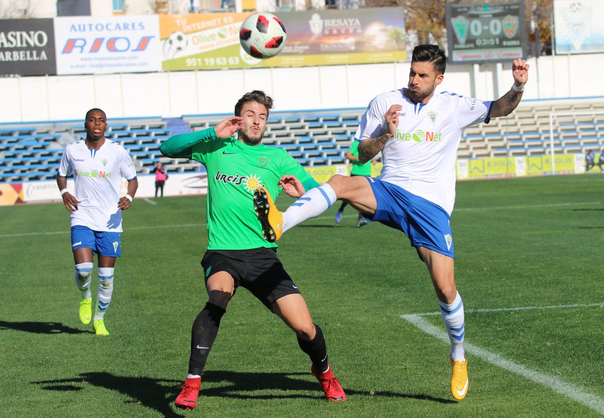 Gran triunfo del Marbella F.C. frente al Almería B (2-0) en la segunda vuelta
