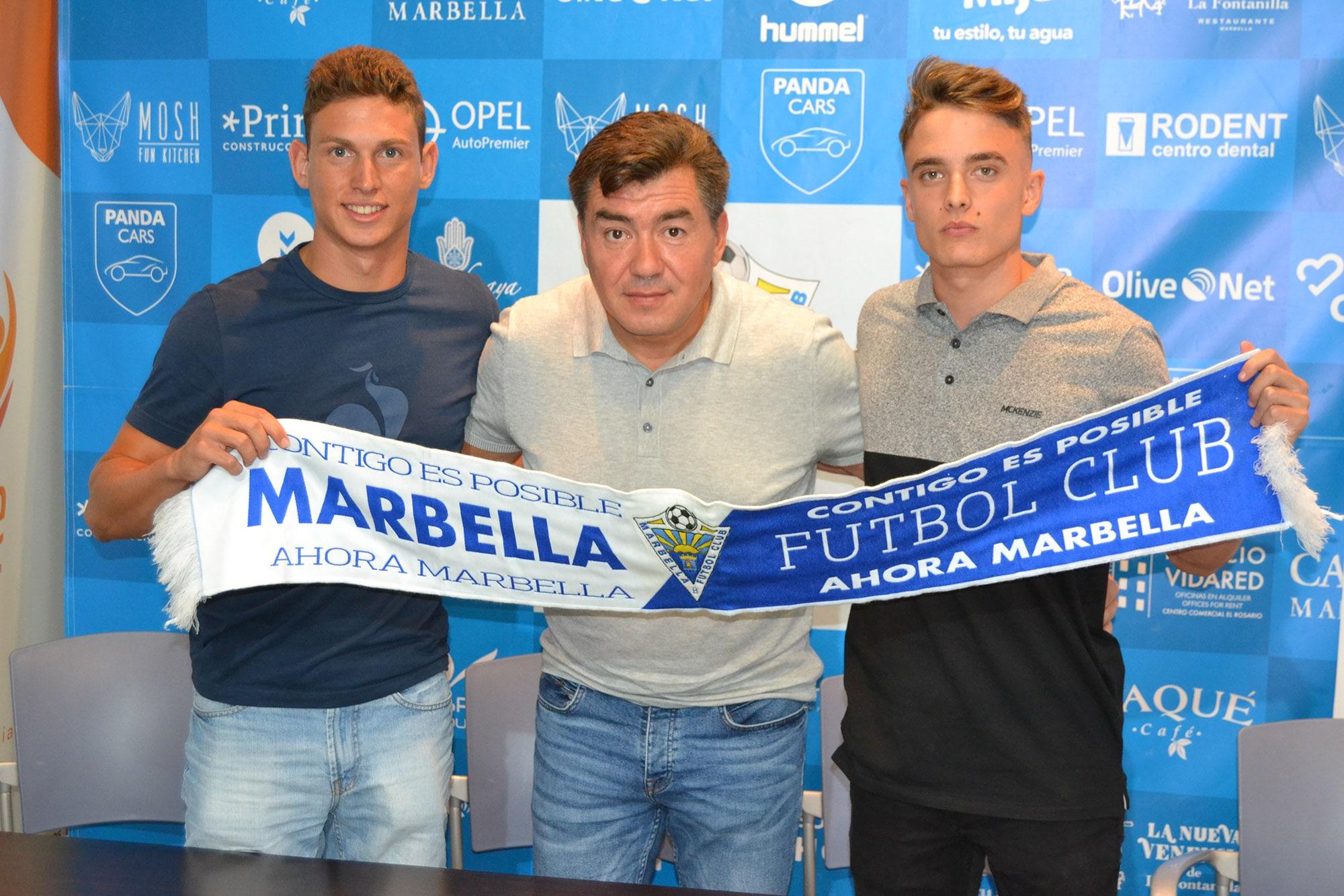 Grinberg presenta a Manu Molina e Ismael Gallar, los dos nuevos fichajes del Marbella FC