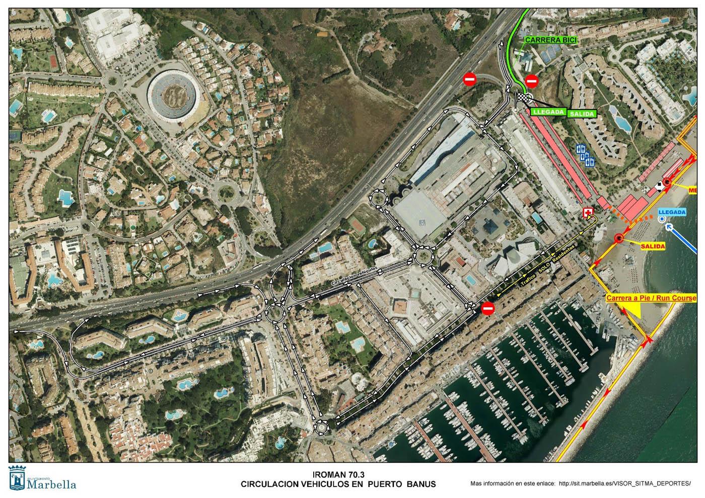 Los ciudadanos pueden consultar ya las vías que se verán afectadas el 27 de abril por la celebración del Ironman 70.3 y las alternativas de tráfico a través del portal SITMA