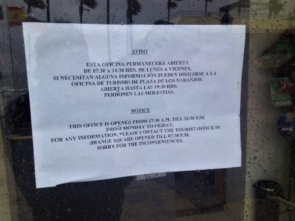 IU alerta del cierre de la oficina de turismo de la Fontanilla por las tardes y fines de semana