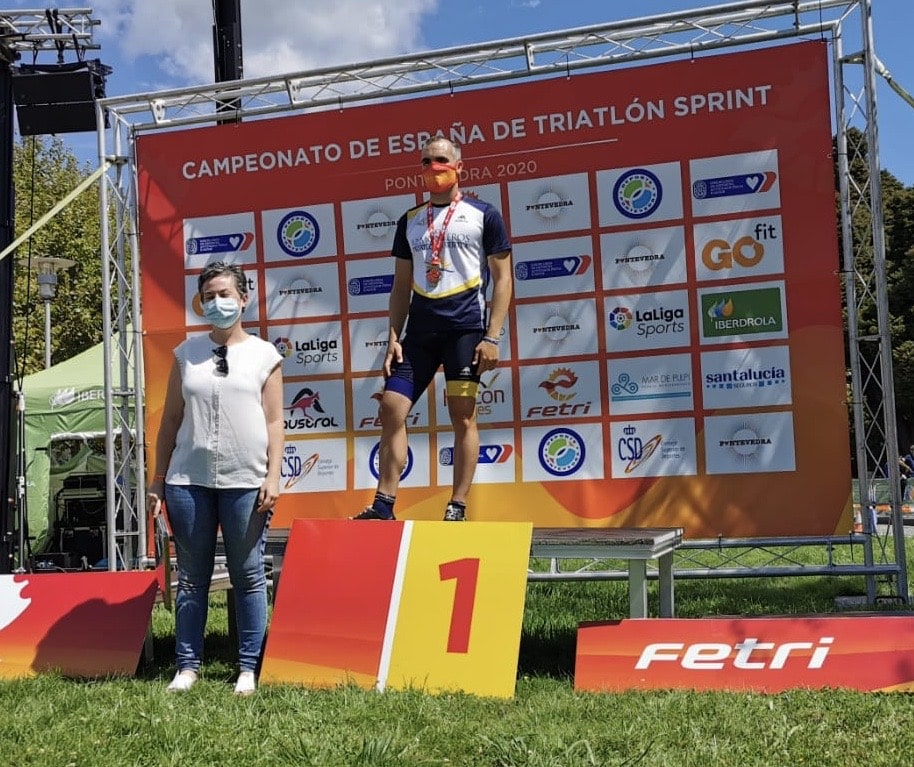 Jorge Otalecu, campeón de España de Triatlón en Pontevedra