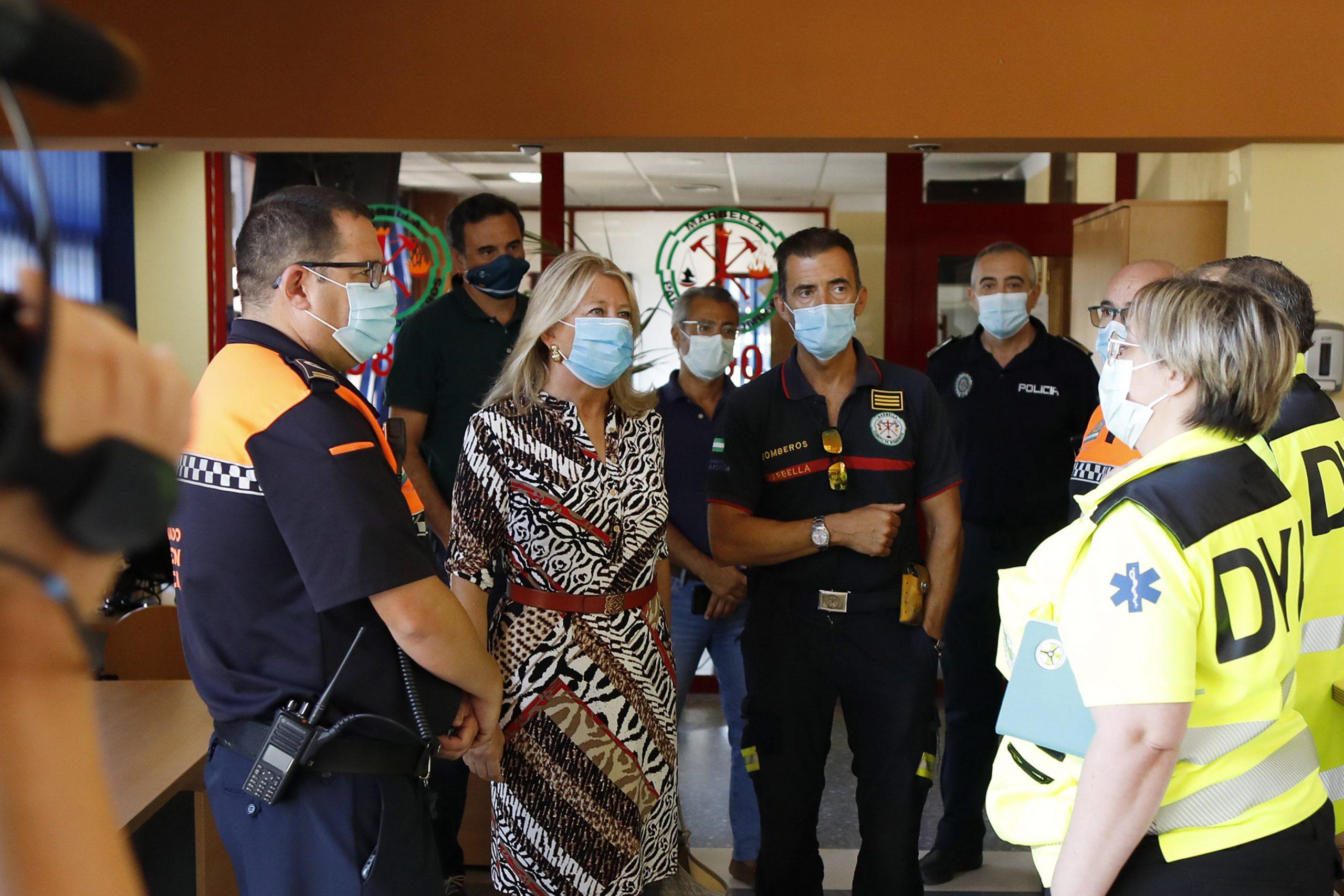 La alcaldesa subraya el trabajo en materia de prevención frente al Covid-19 en Marbella