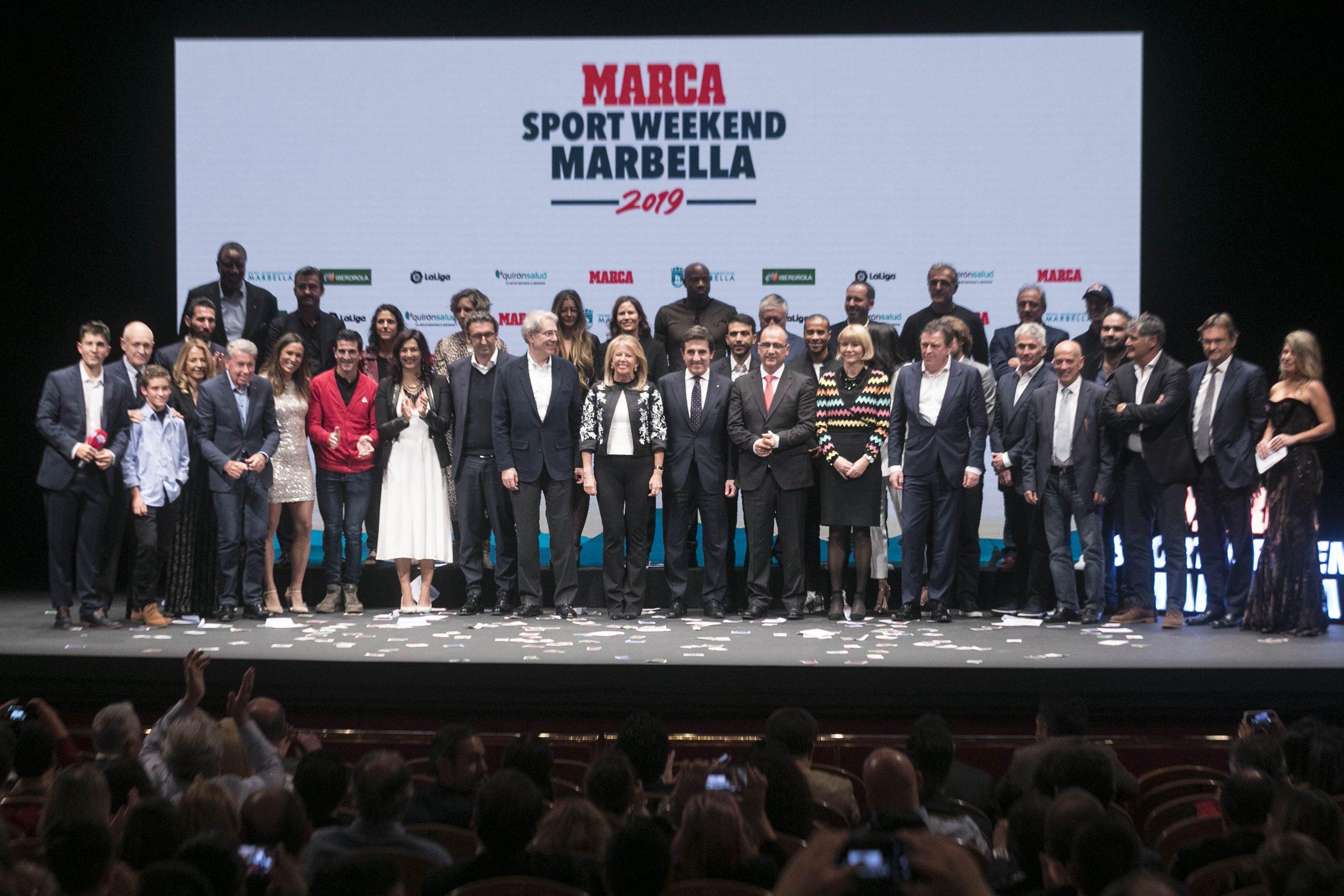La Gala del 'Marca Sport Weekend Marbella' reúne a profesionales y leyendas del deporte