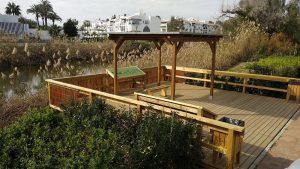 La Senda Litoral en Marbella ofrece un nuevo atractivo con un observatorio ornitológico