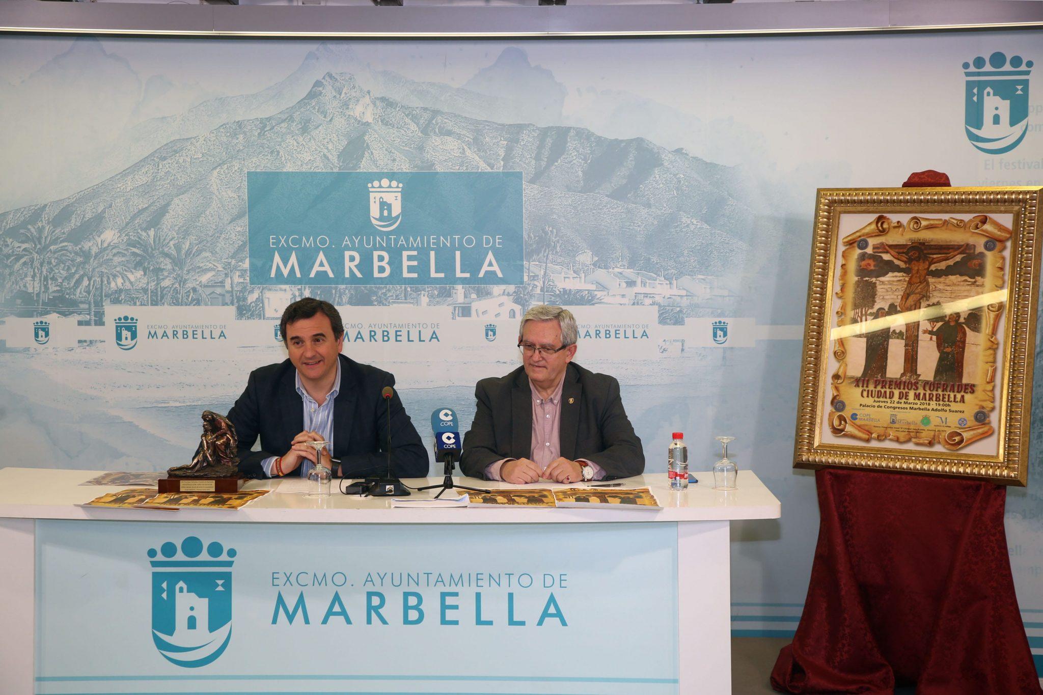 La XXII edición de los Premios Cofrades 'Ciudad de Marbella' tendrá lugar el próximo 22 de marzo