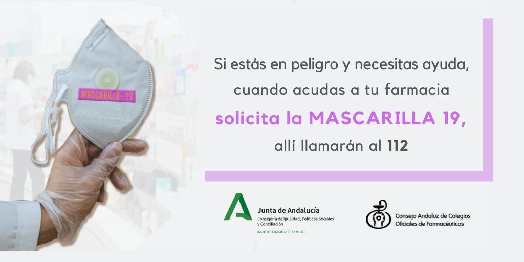 Las víctimas de violencia de género podrán solicitar ayuda con la clave 'Mascarilla 19'