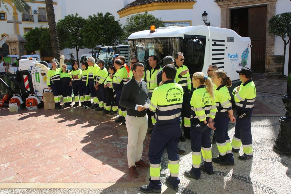Limpieza refuerza el dispositivo especial de Semana Santa con la contratación de 67 personas de las bolsas de trabajo del Ayuntamiento