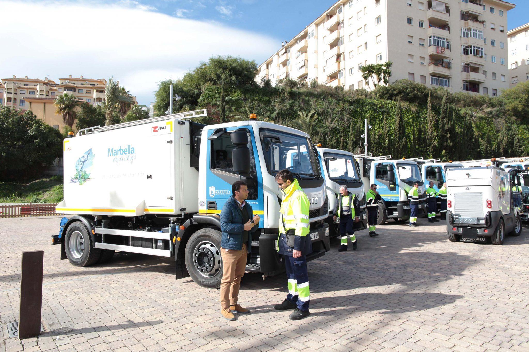 Limpieza incorpora a su flota nueve vehículos de baldeo