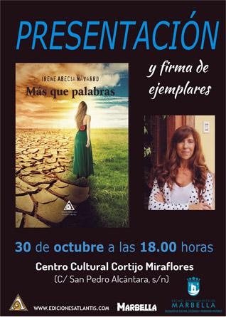 Mañana se presenta el libro 'Más que Palabras' de Irene Abecia