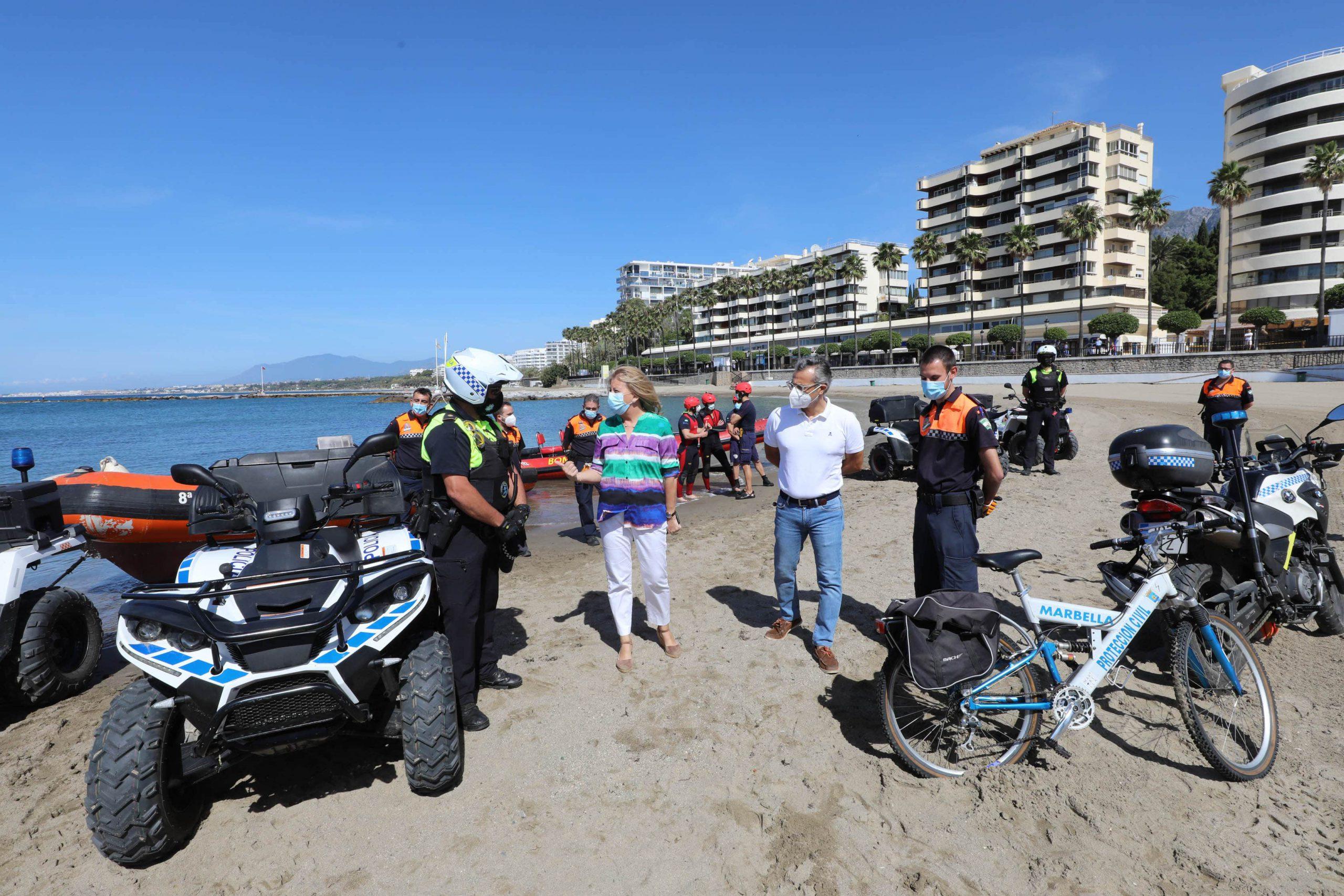 Marbella abrirá mañana lunes sus playas con refuerzo de las medidas de seguridad