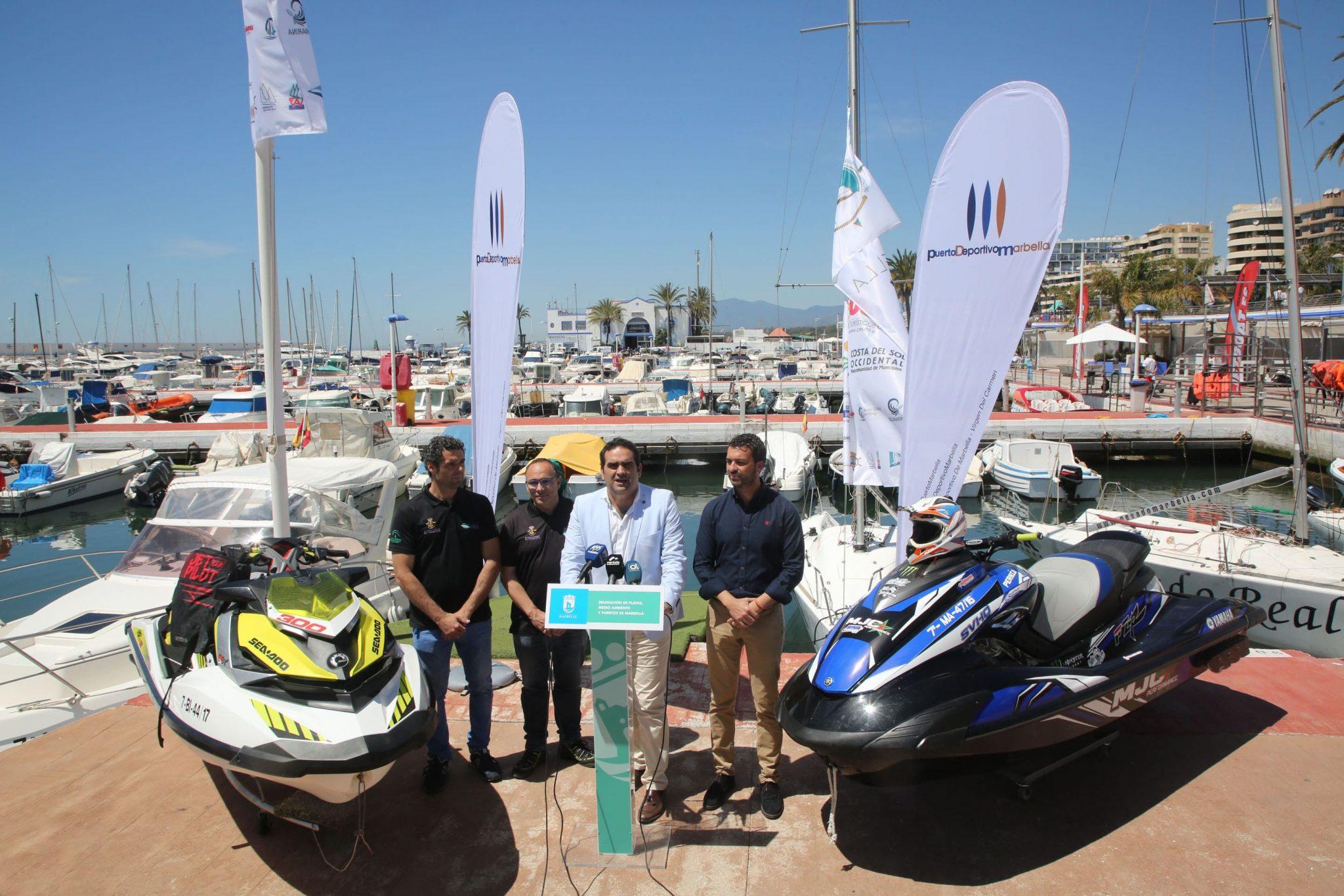 Marbella acogerá la II Prueba del Campeonato de España y Andalucía de Motos de Agua