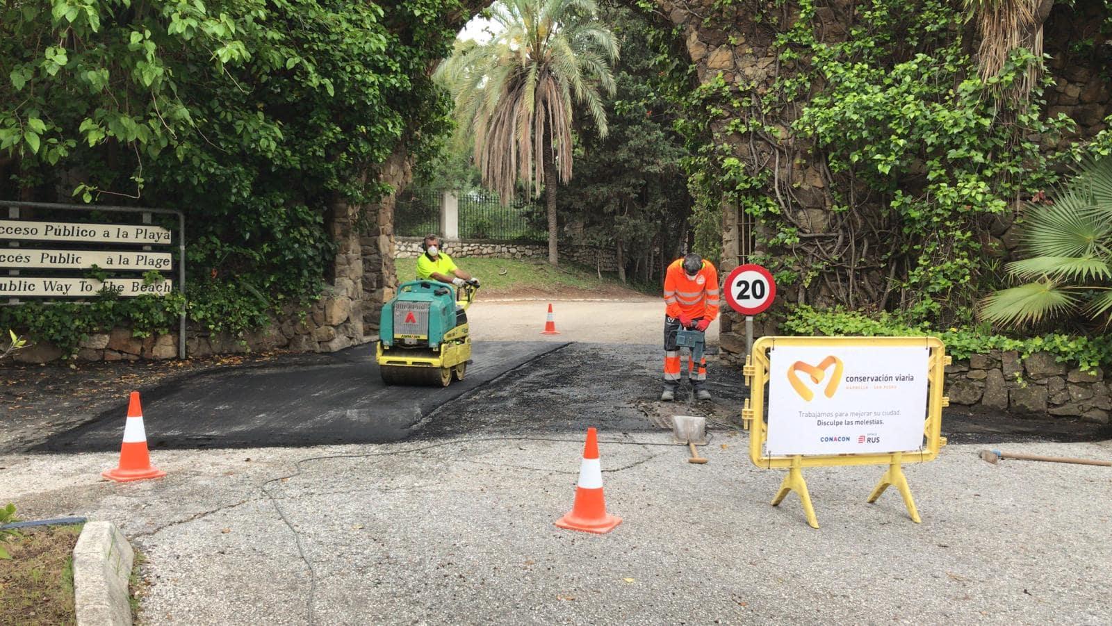 Marbella acomete más de medio centenar de obras esenciales de reparación de viales