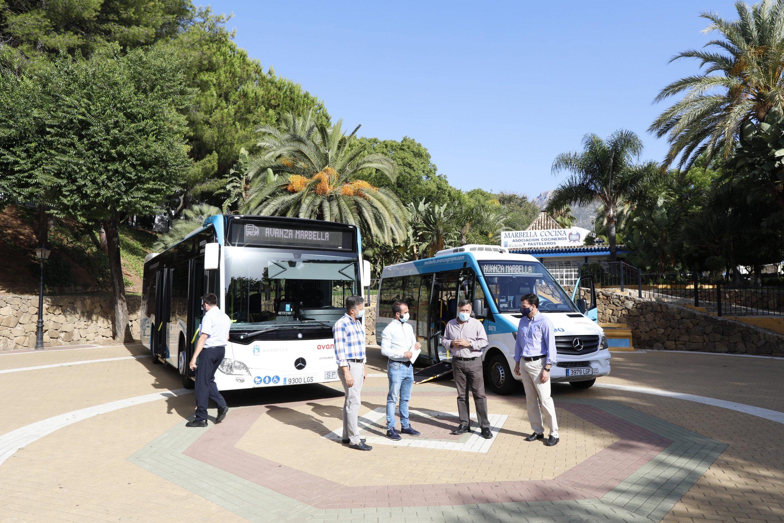Marbella incorpora dos nuevos autobuses a la flota de transporte público