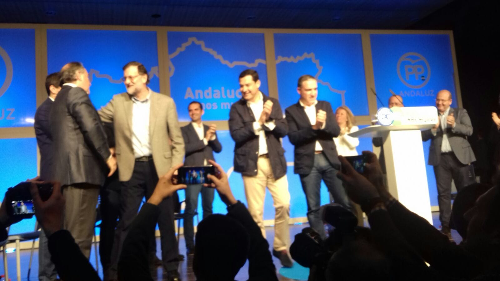El presidente del Gobierno, MarianoRajoy arropa la candidatura de Ángeles Muñoz a las próximas elecciones municipales de Marbella