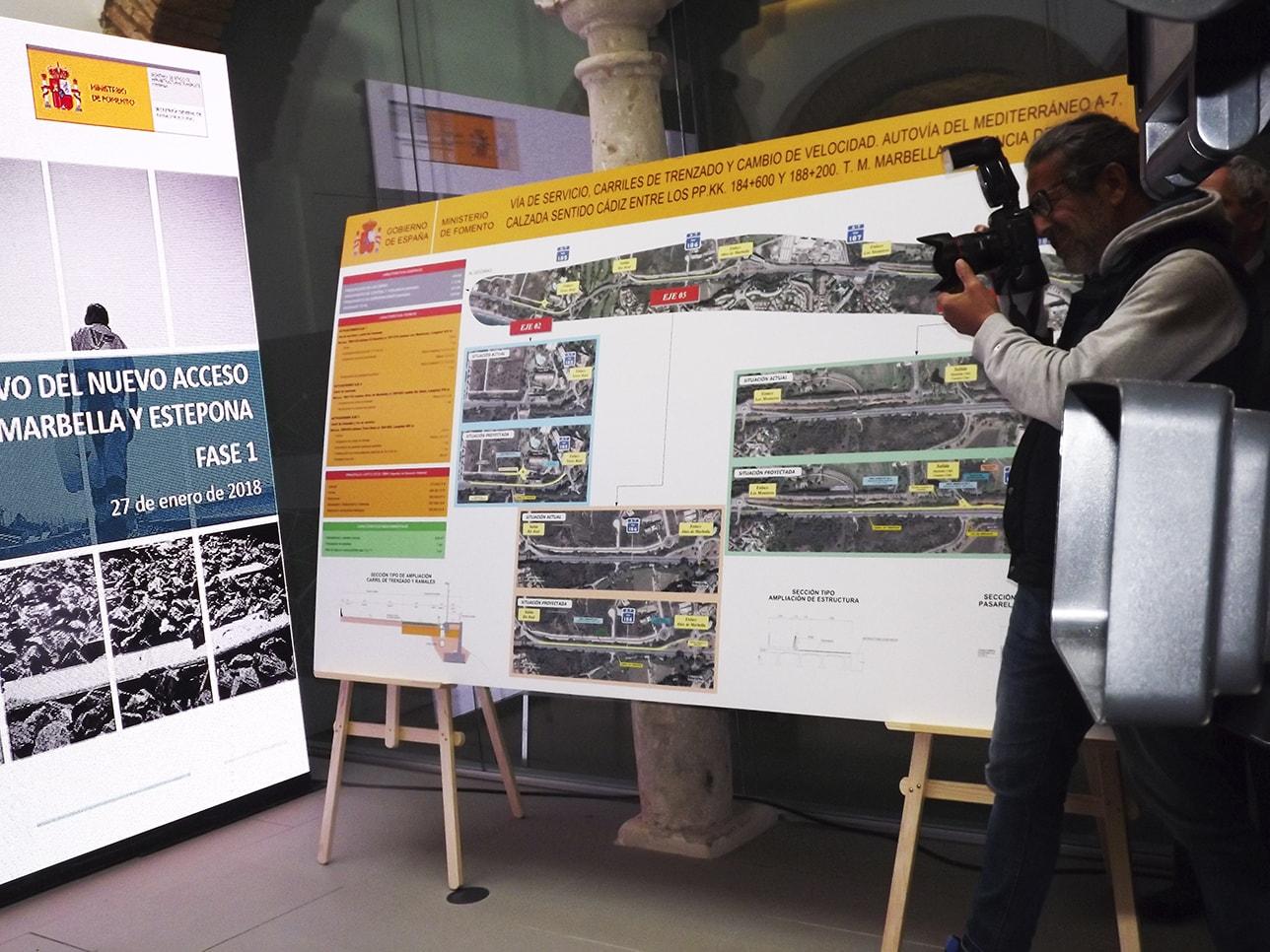 Fomento presenta el proyecto del nuevo acceso ferroviario a Marbella y también otro de carretera