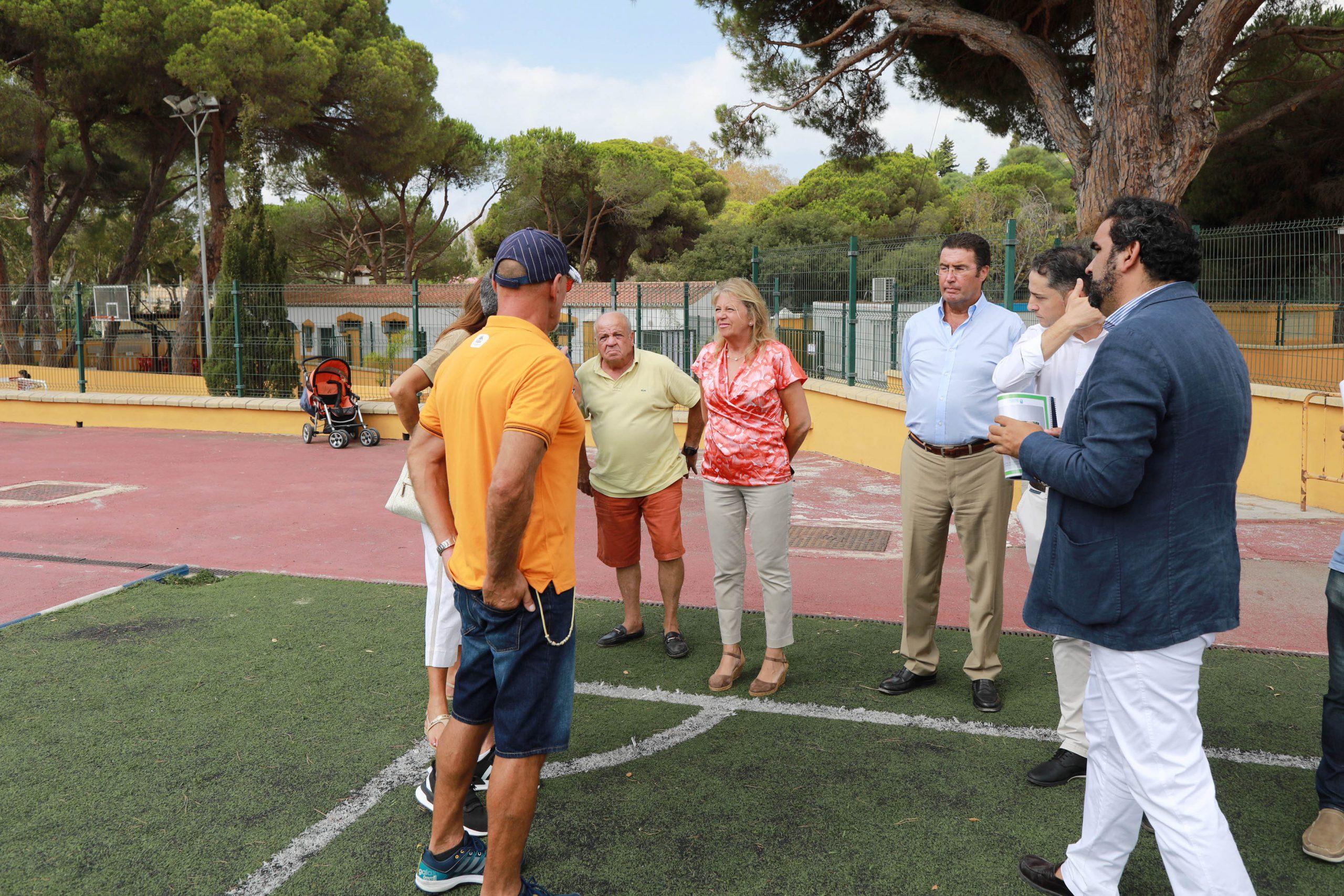 Obras de mejora en el Campo de Fútbol 11 del Estadio Santa María de Las Chapas