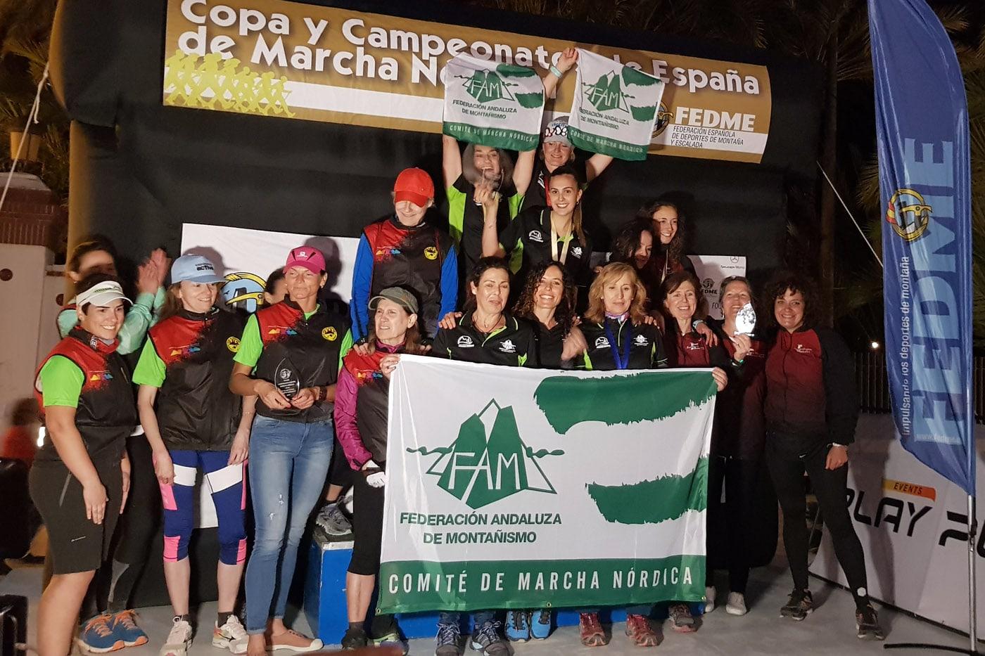 Anka Englisova y María Maestro, campeonas de España con la Selección Andaluza de Marcha Nórdica
