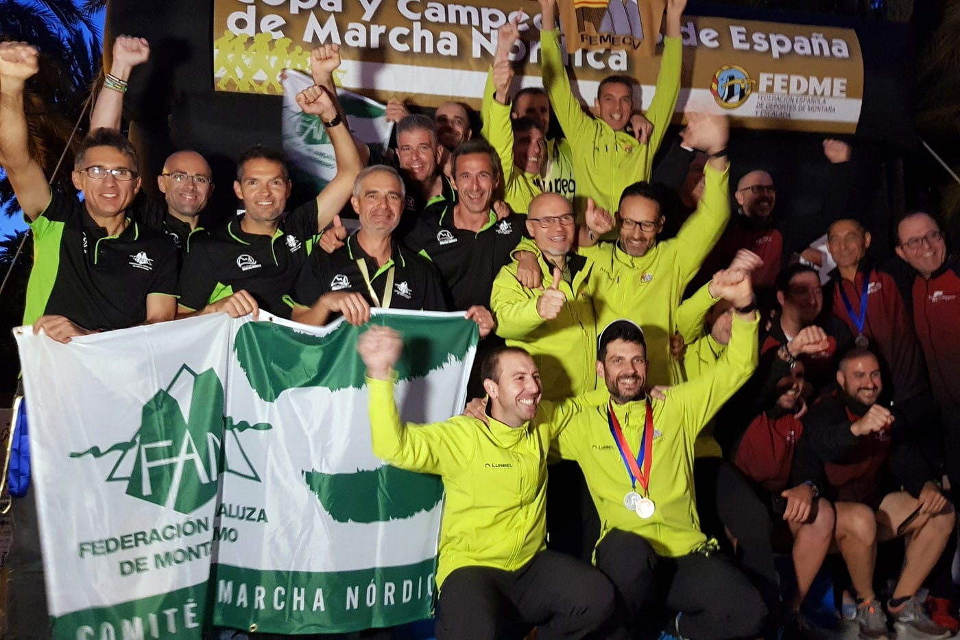 Anka Englisova y María Maestro se proclaman campeonas de España con la Selección Andaluza de Marcha Nórdica y Kike Villanueva sucampeón con la selección masculina