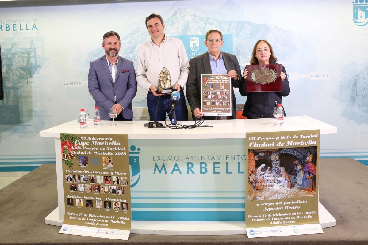 El VII Pregón y la Gala de Navidad Ciudad de Marbella tendrán lugar el próximo 14 de diciembre